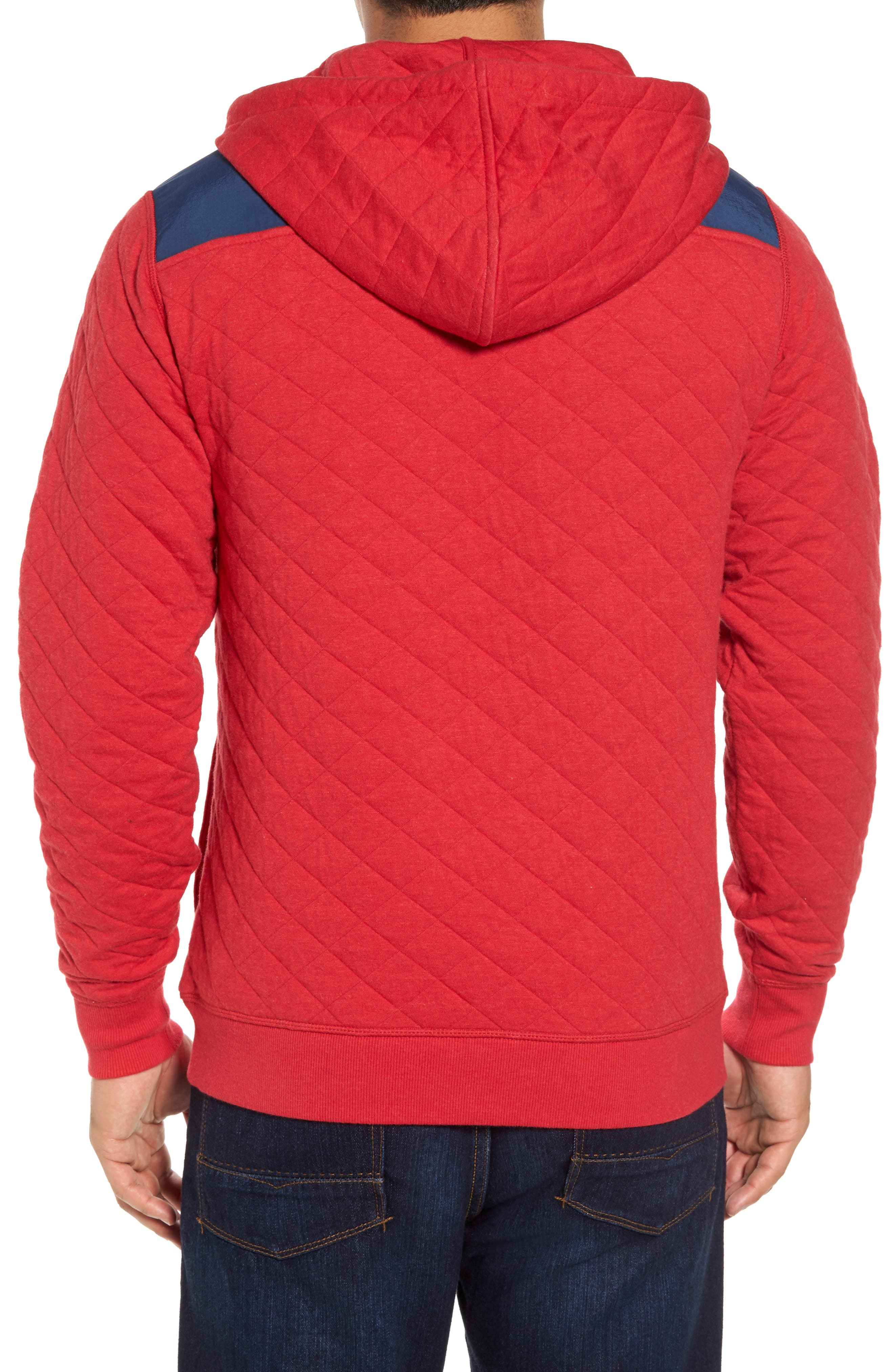 Shep Quilted Hoodie,                             Alternate thumbnail 2, color,                             Tomato Check