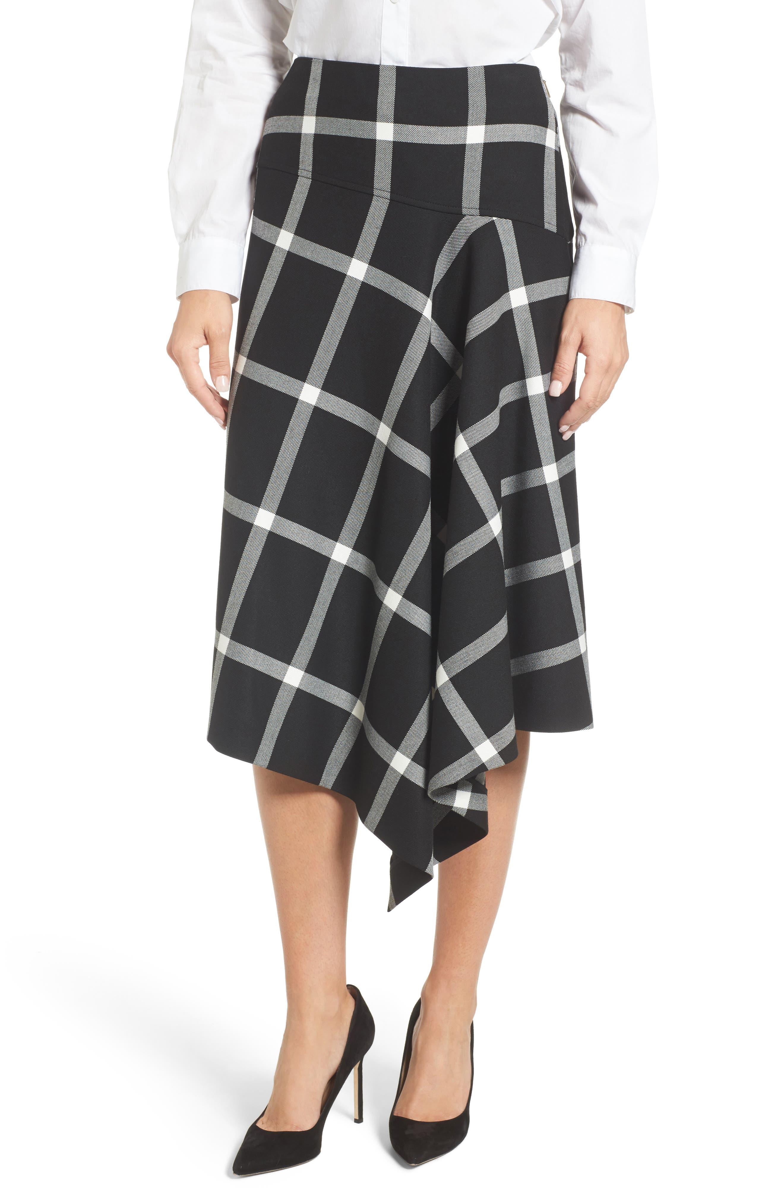 BOSS Dilarea Windowpane Colorblock Midi Dress