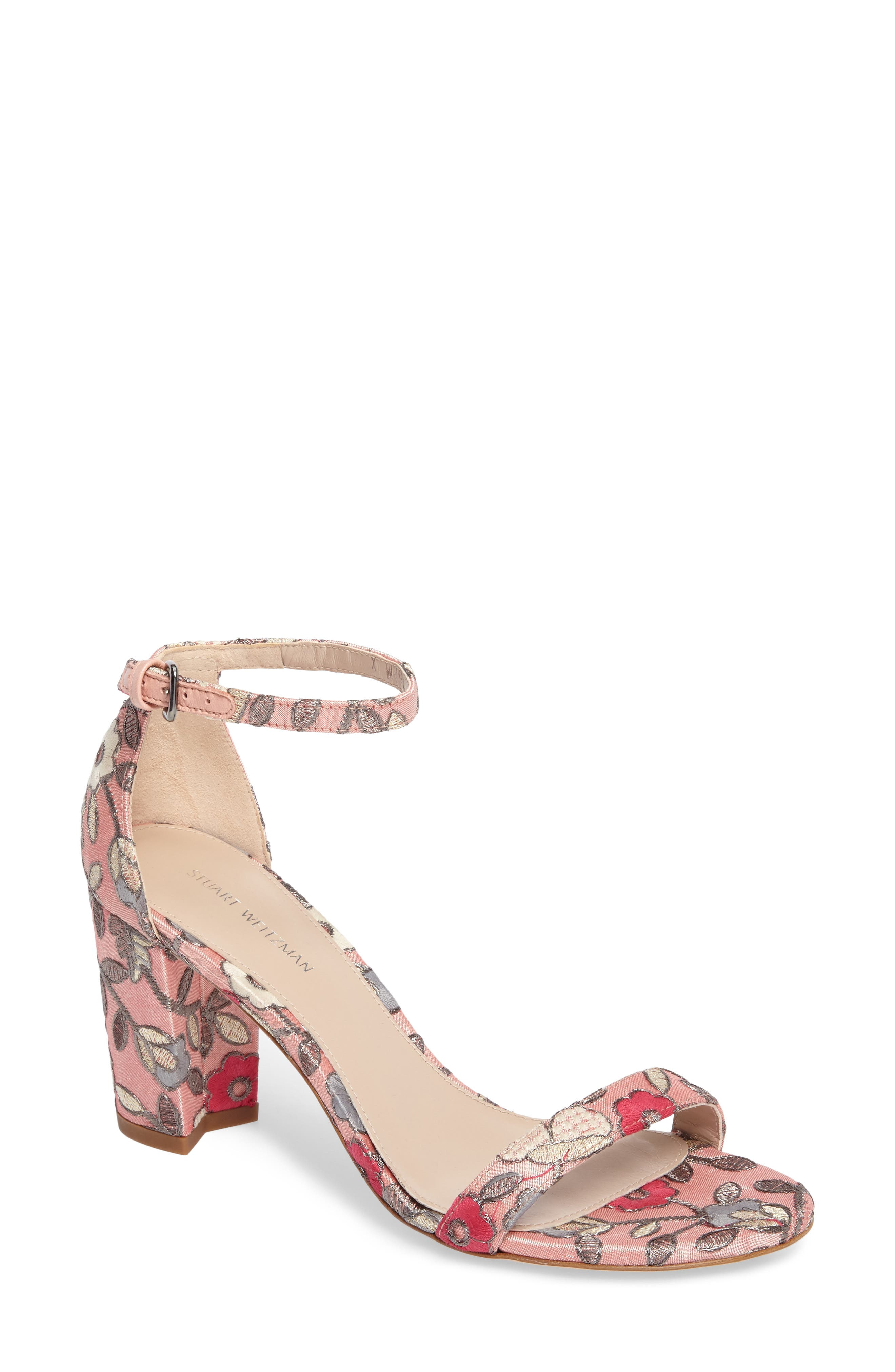 Alternate Image 1 Selected - Stuart Weitzman NearlyNude Ankle Strap Sandal (Women)