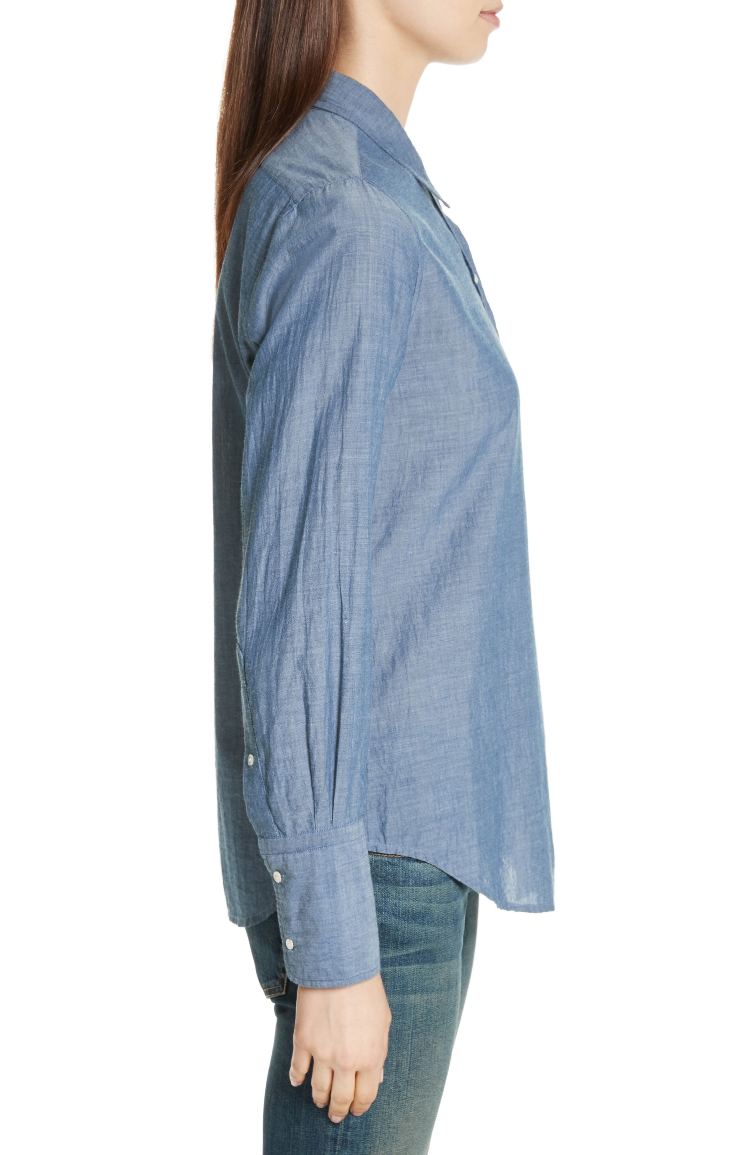 Chambray Shirt,                             Alternate thumbnail 3, color,                             Indigo Chambray