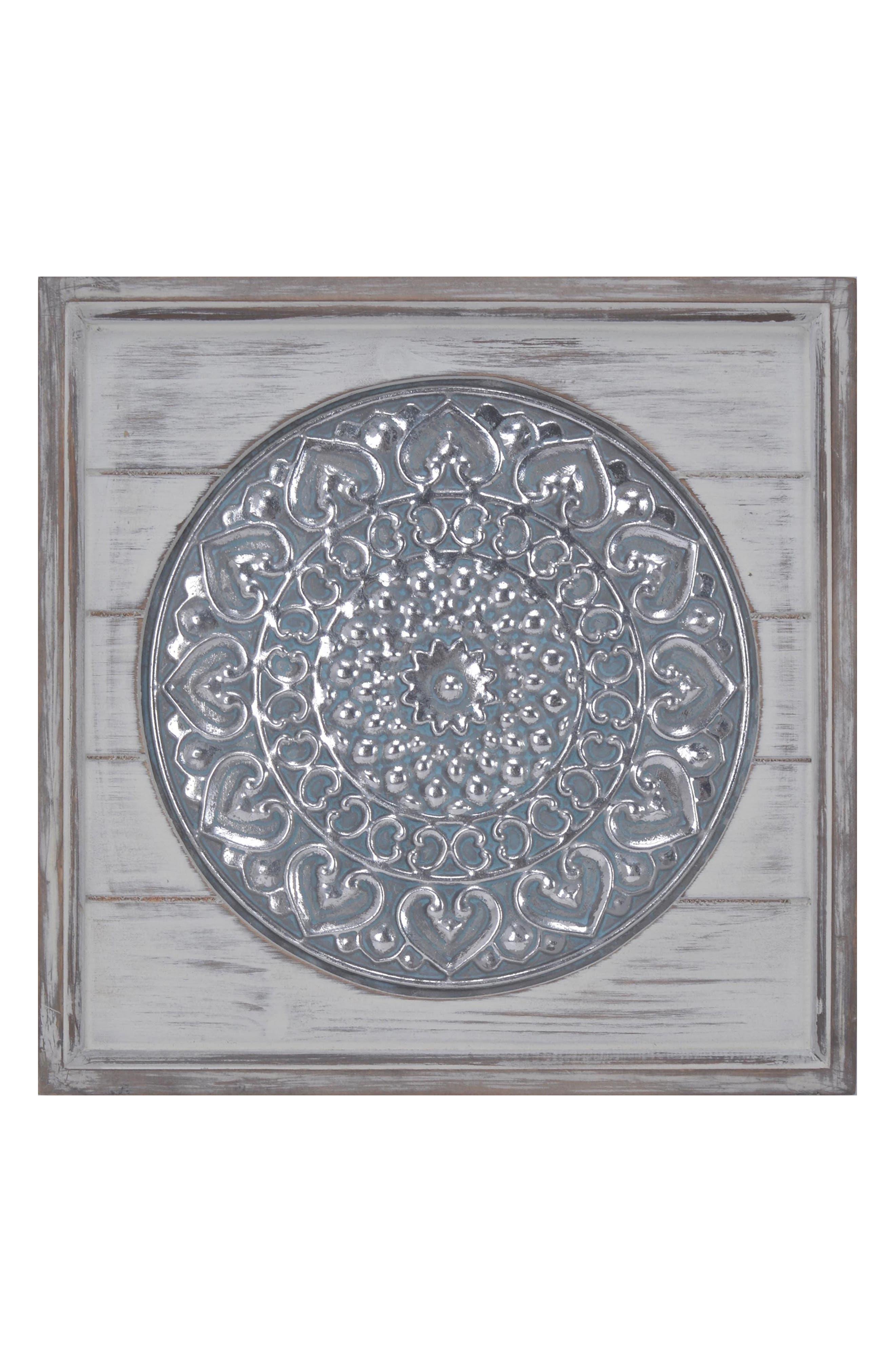 Wood & Metal Wall Art,                         Main,                         color, Metallic Silver