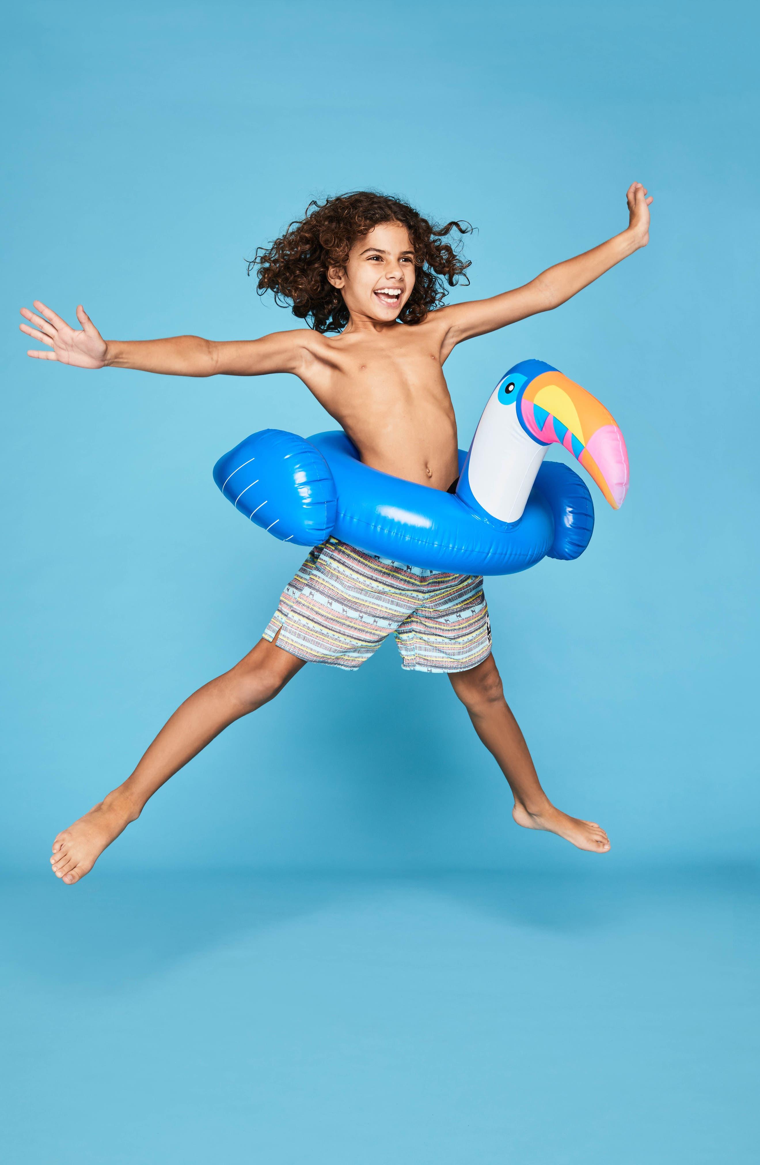 Kiddy Toucan Pool Float,                             Alternate thumbnail 3, color,                             Blue