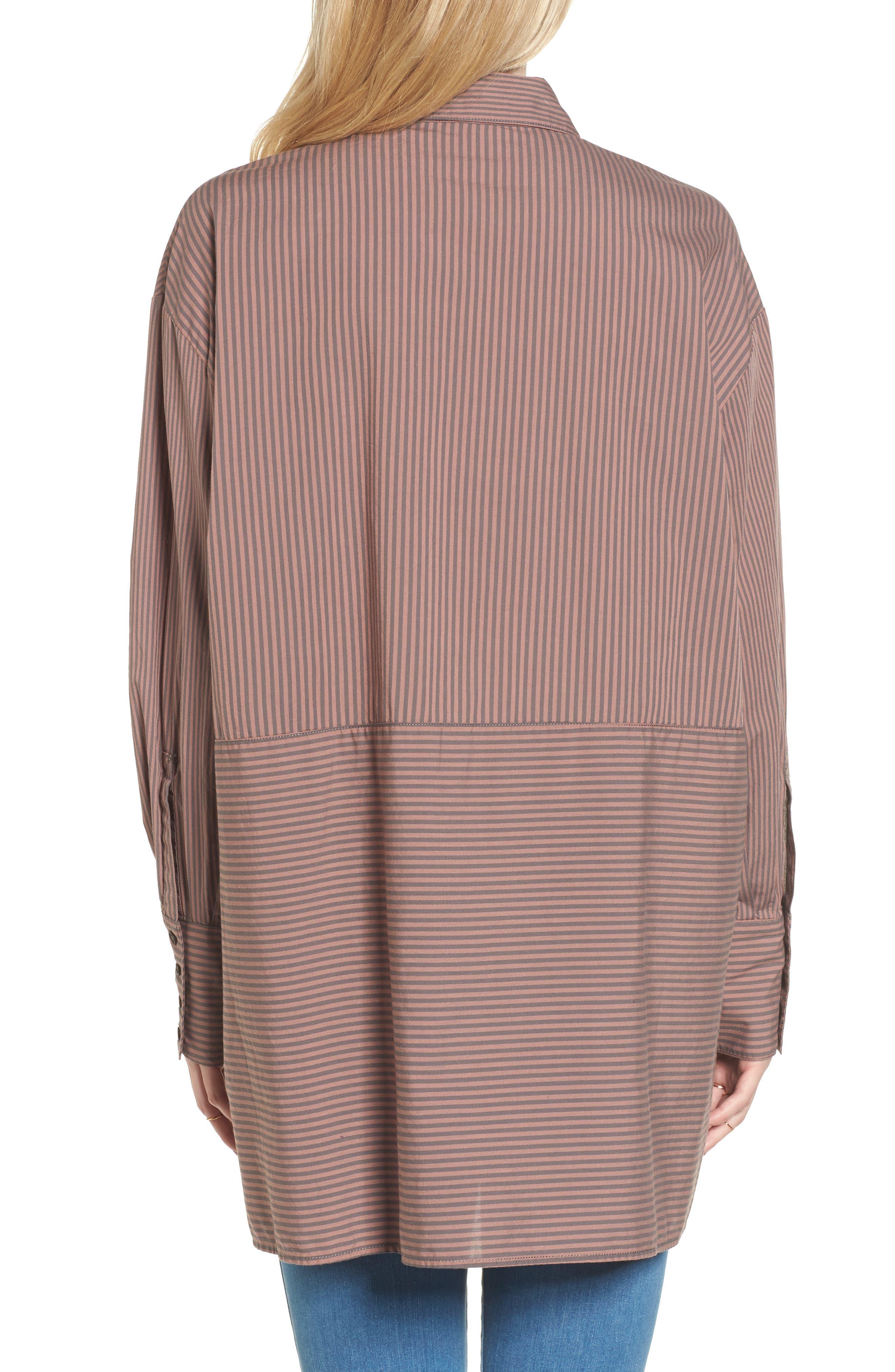 Lakehouse Oversize Shirt,                             Alternate thumbnail 2, color,                             Pink