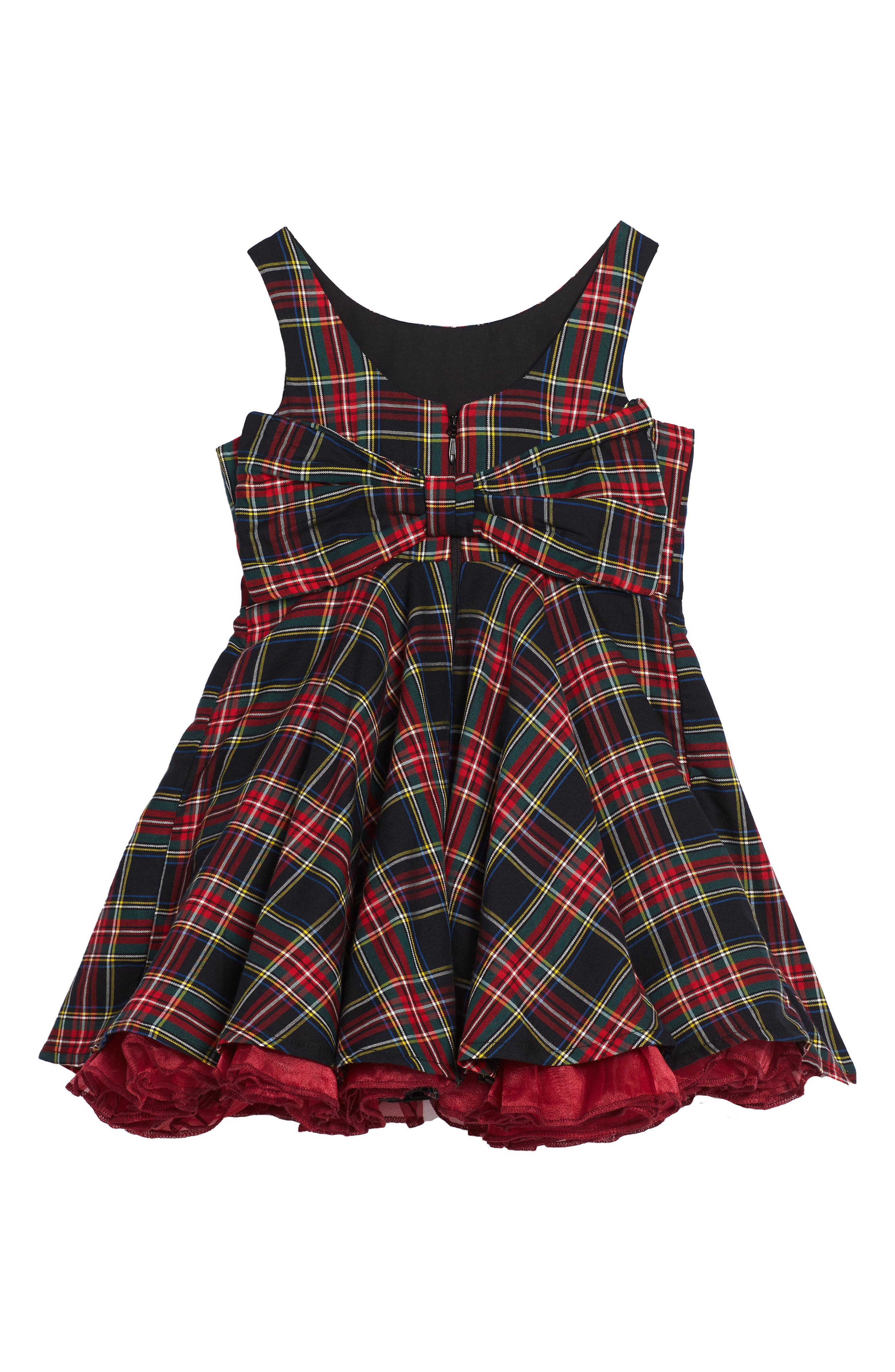Alternate Image 2  - Fiveloaves Twofish Tartan Party Dress (Toddler Girls & Little Girls)