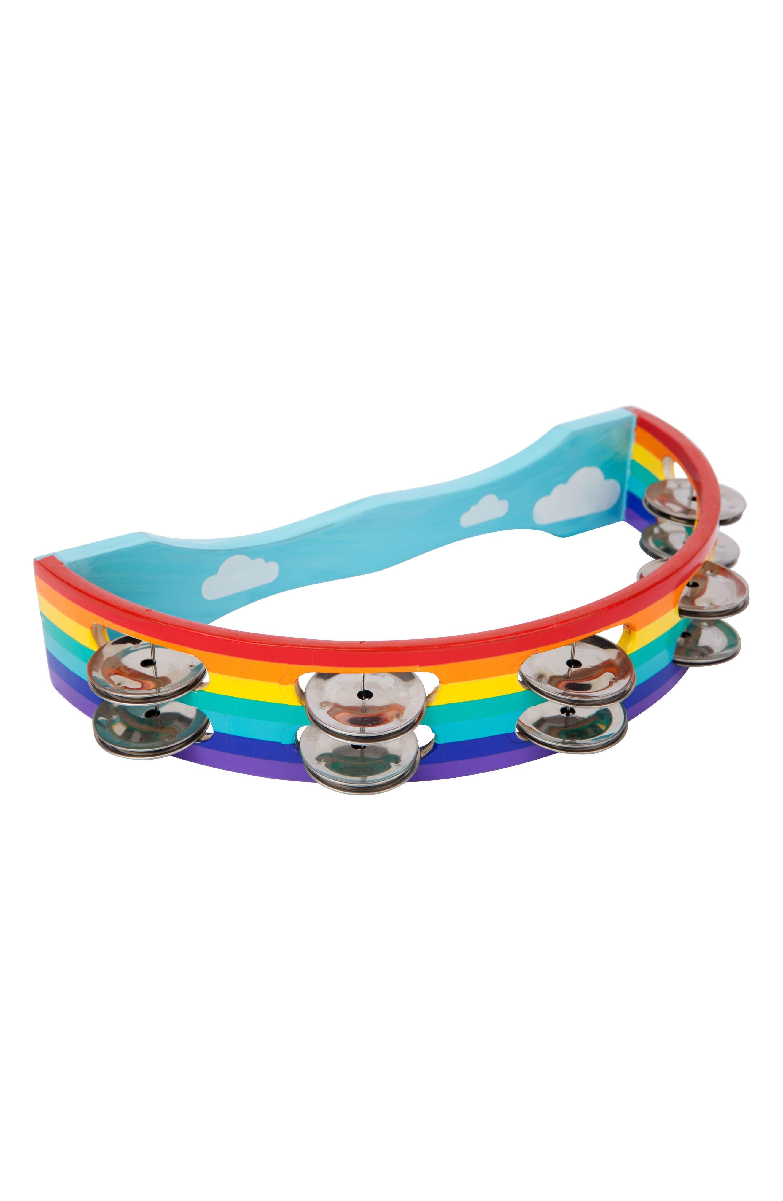 Rainbow Tambourine,                         Main,                         color, Multi