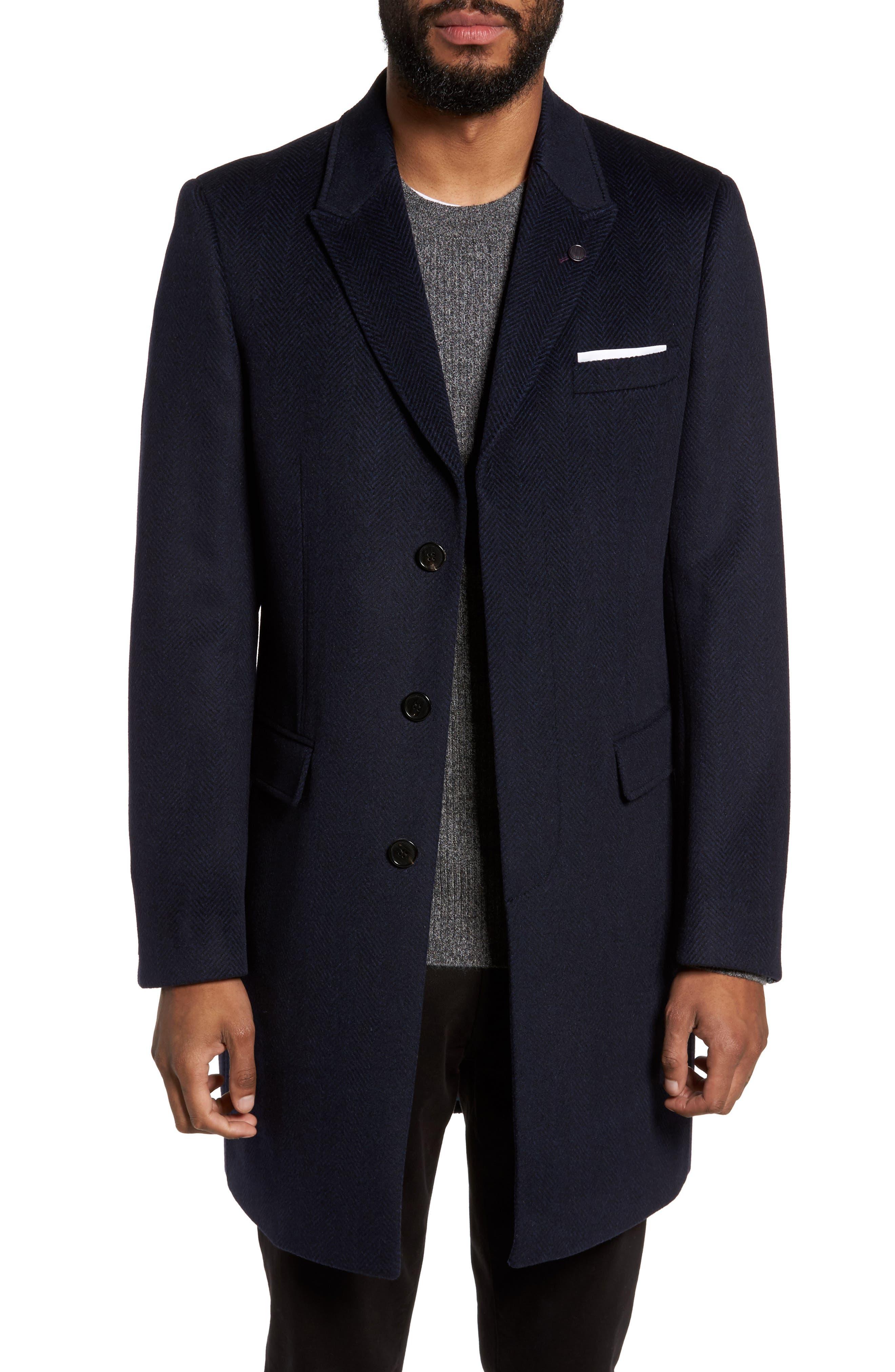 Ted Baker London Endurance Wool & Cashmere Overcoat