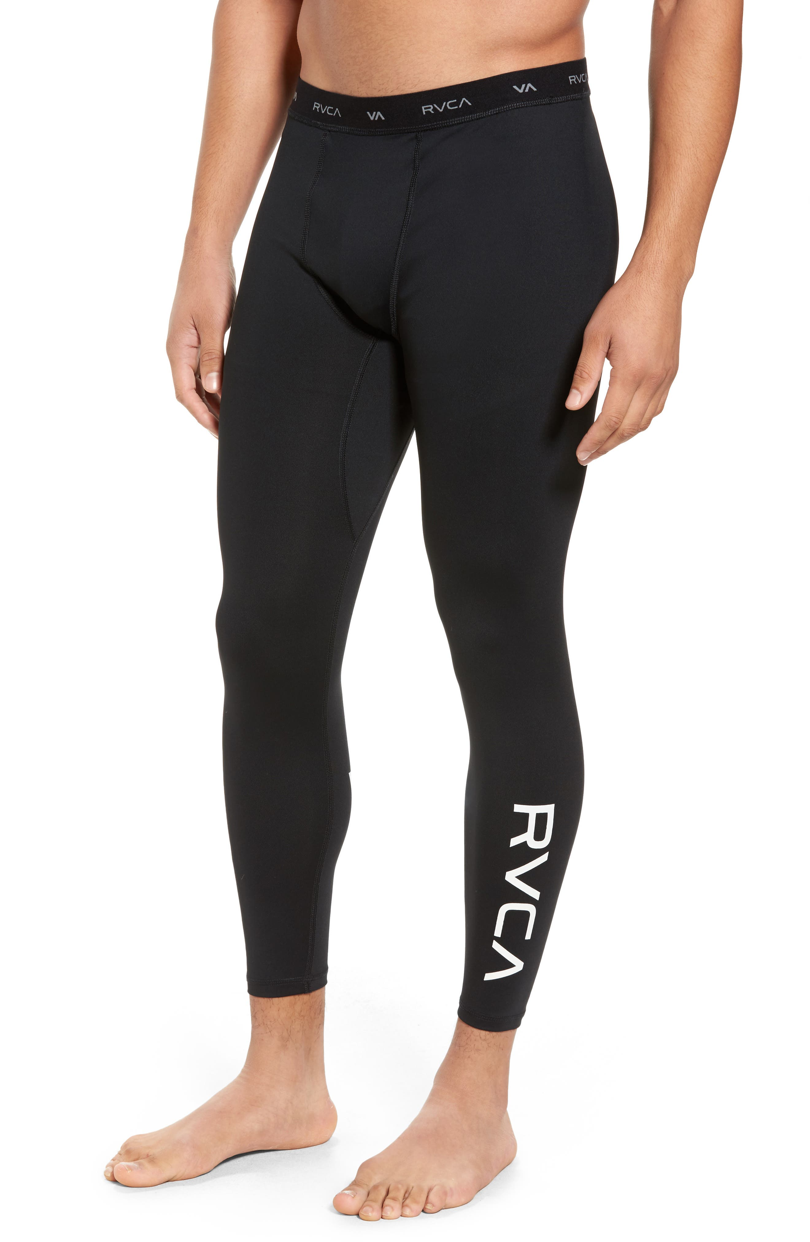 VA Sport Compression Pants,                         Main,                         color, Black