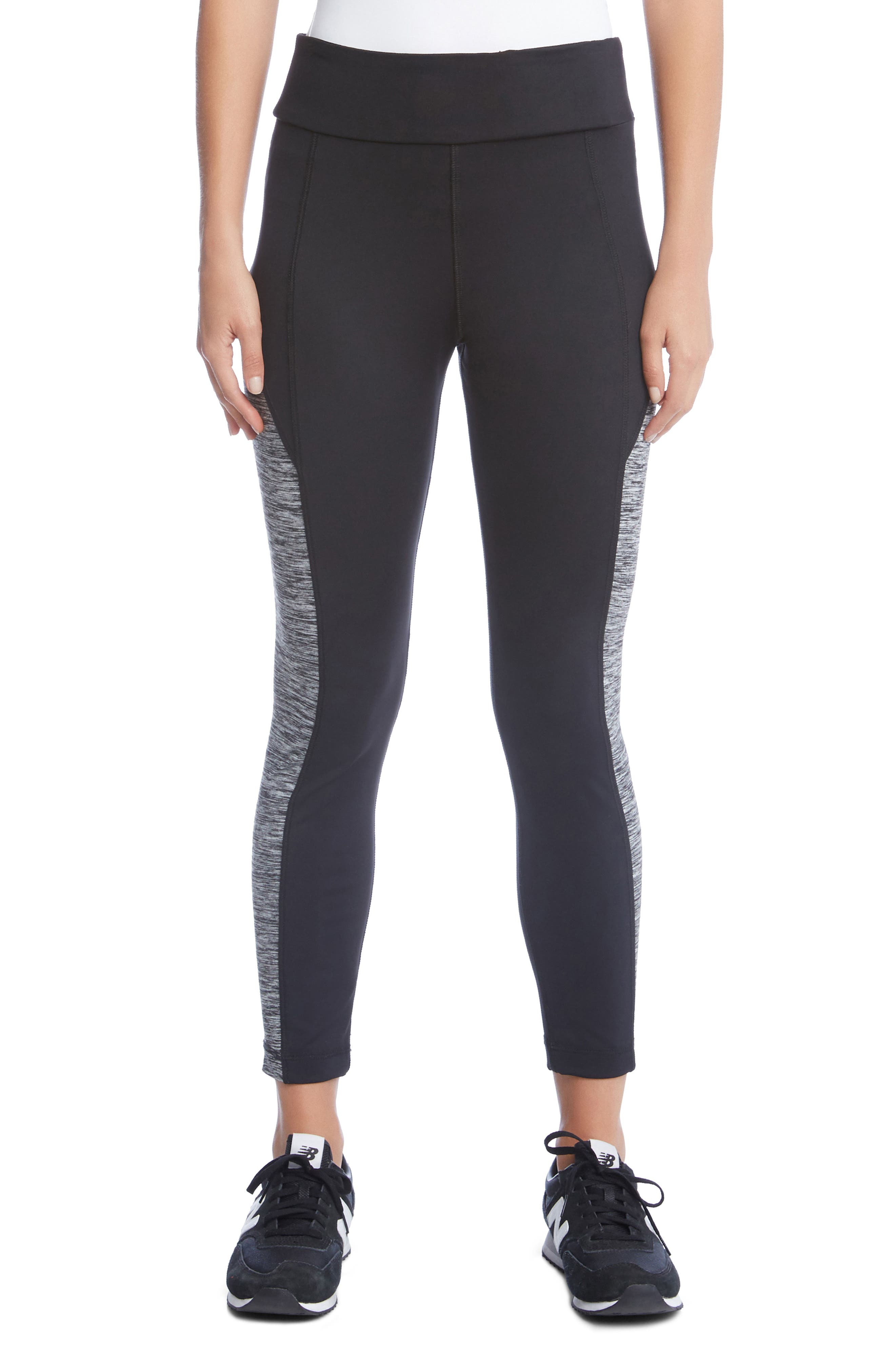 Contrast Side Leggings,                         Main,                         color, Black