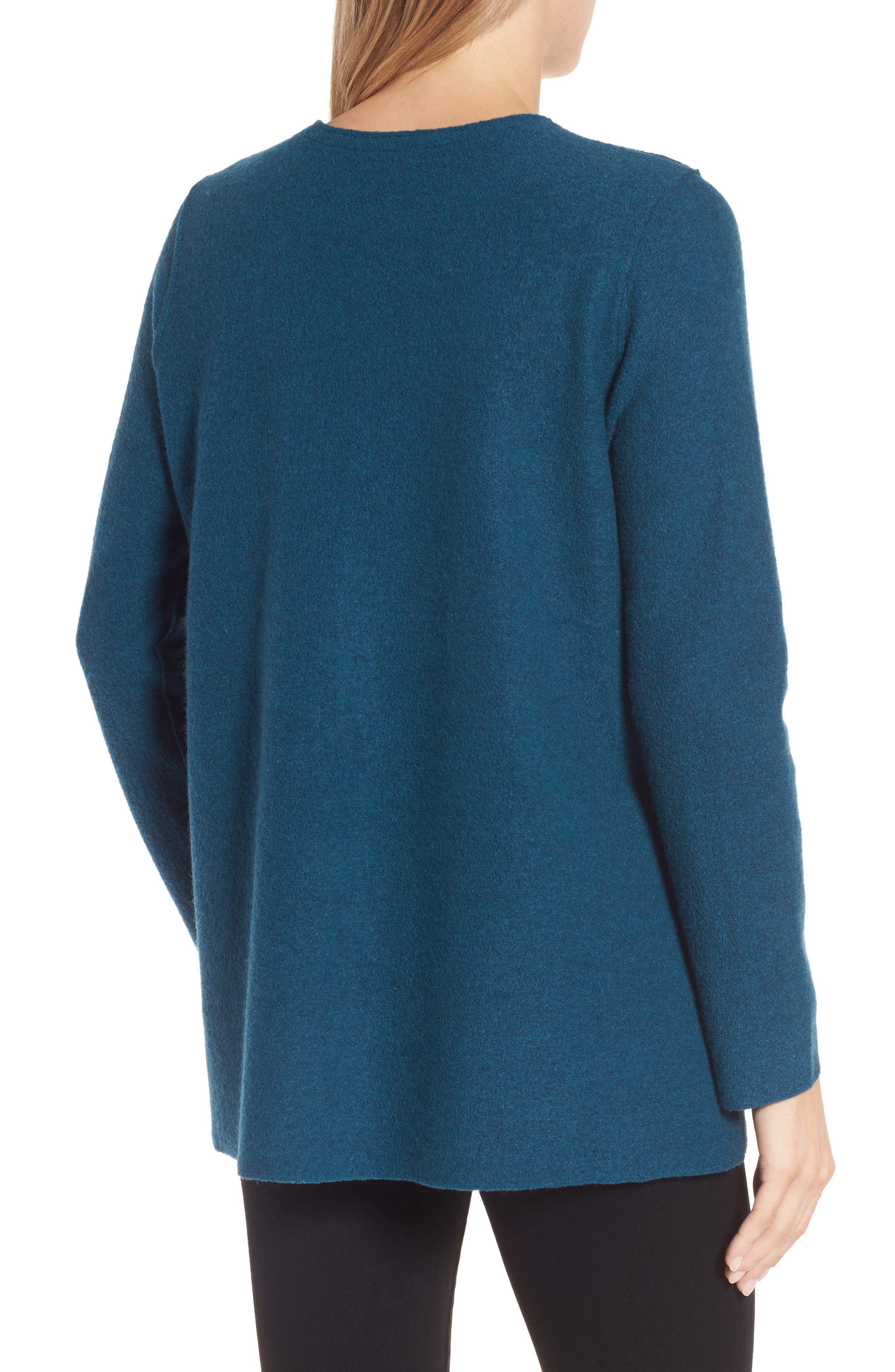 Boiled Merino Wool Top,                             Alternate thumbnail 2, color,                             Blue Spruce