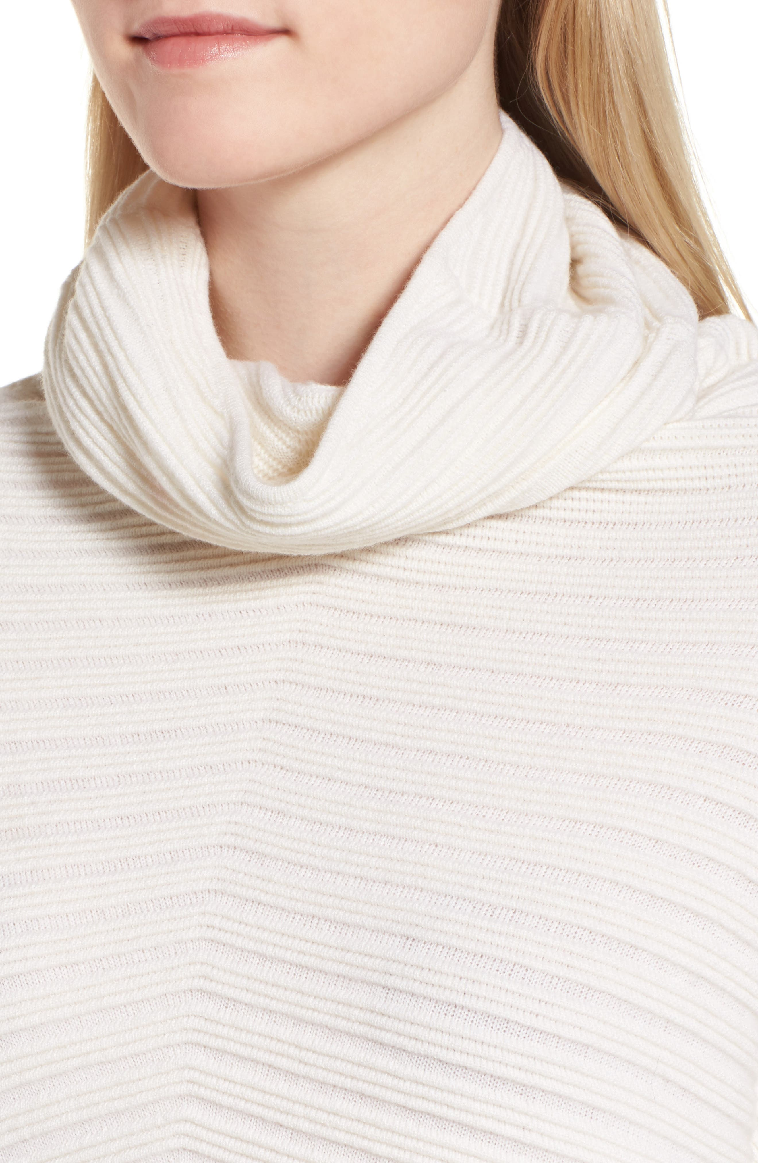 Alternate Image 4  - Nordstrom Signature Scrunch Neck Ottoman Knit Cashmere Sweater