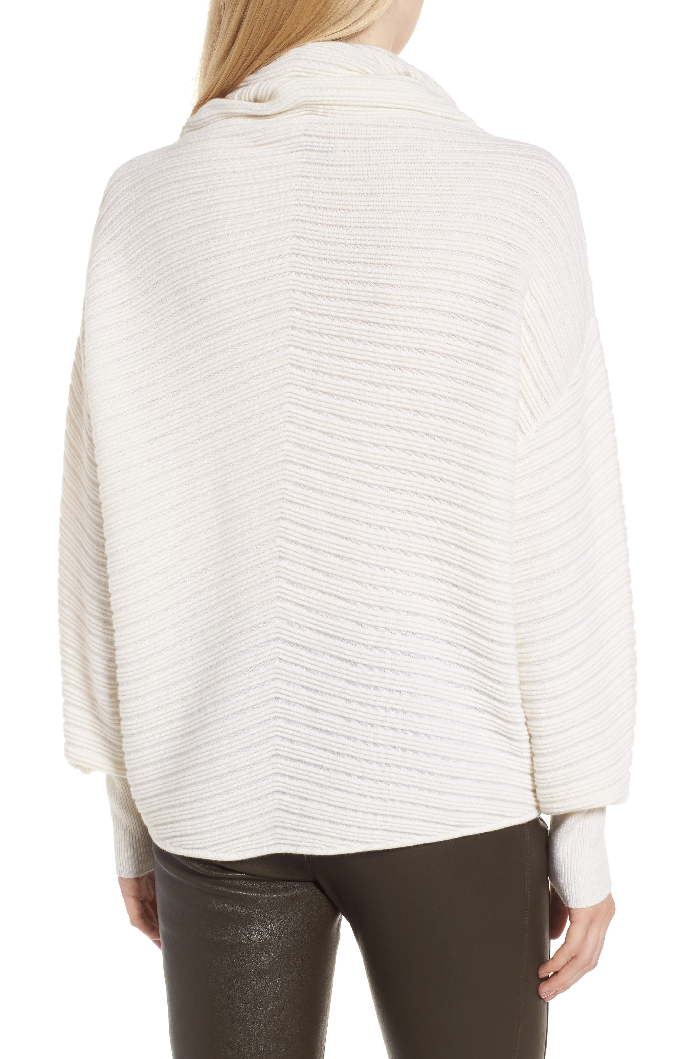 Alternate Image 2  - Nordstrom Signature Scrunch Neck Ottoman Knit Cashmere Sweater