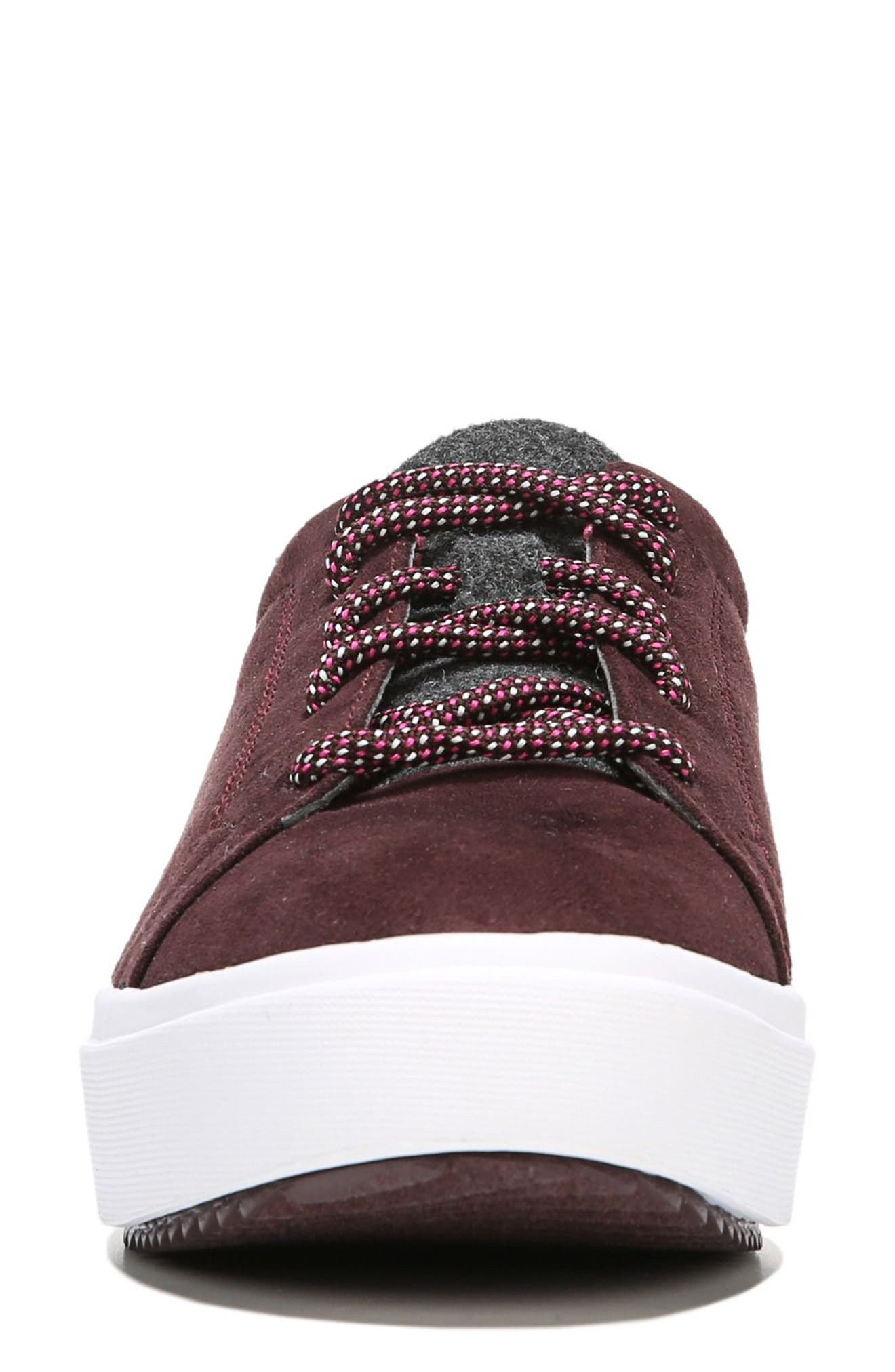 Wander Sneaker,                             Alternate thumbnail 4, color,                             Merlot Fabric