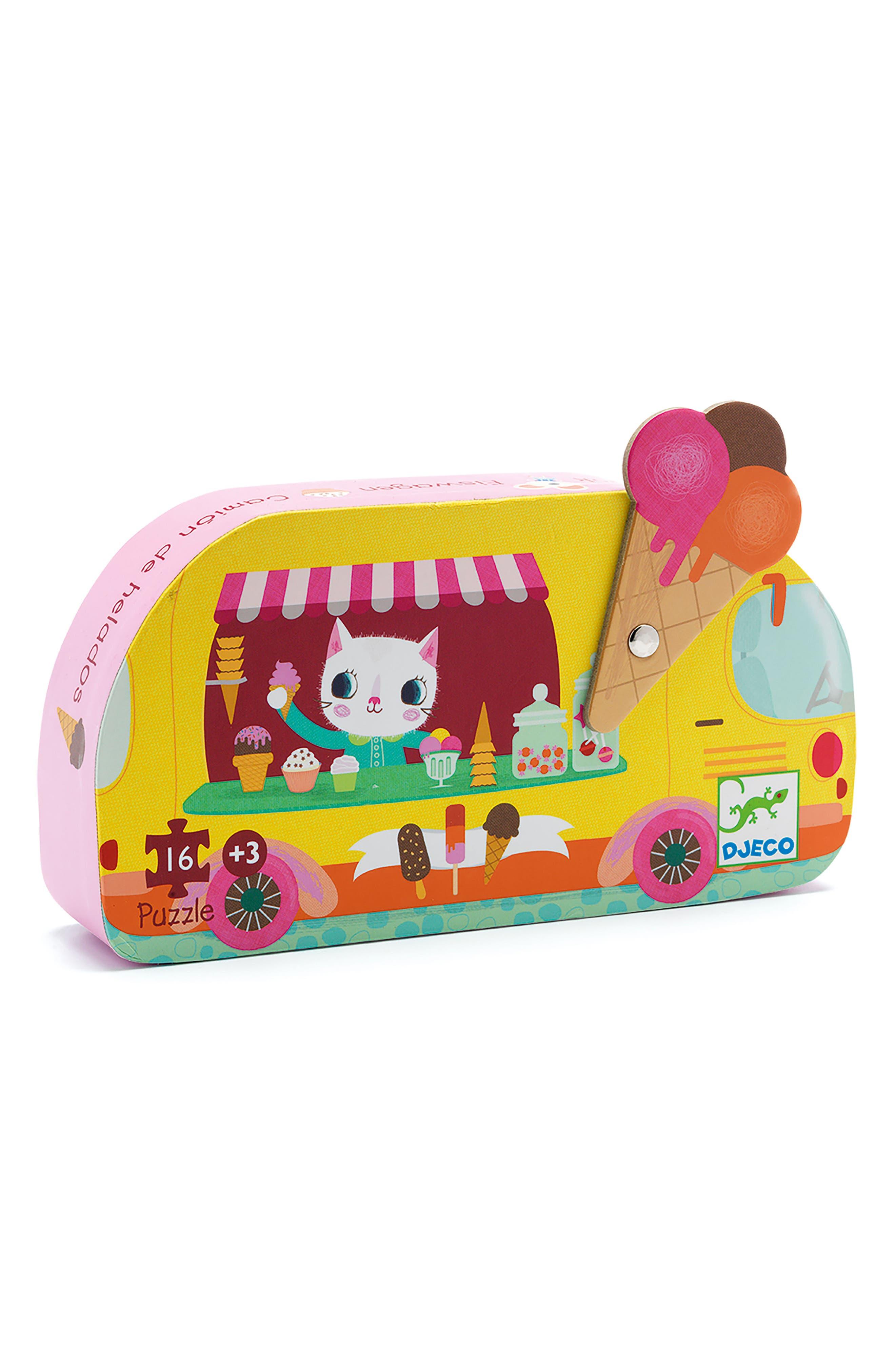 16-Piece Ice Cream Truck Mini Silhouette Puzzle,                         Main,                         color, Multi