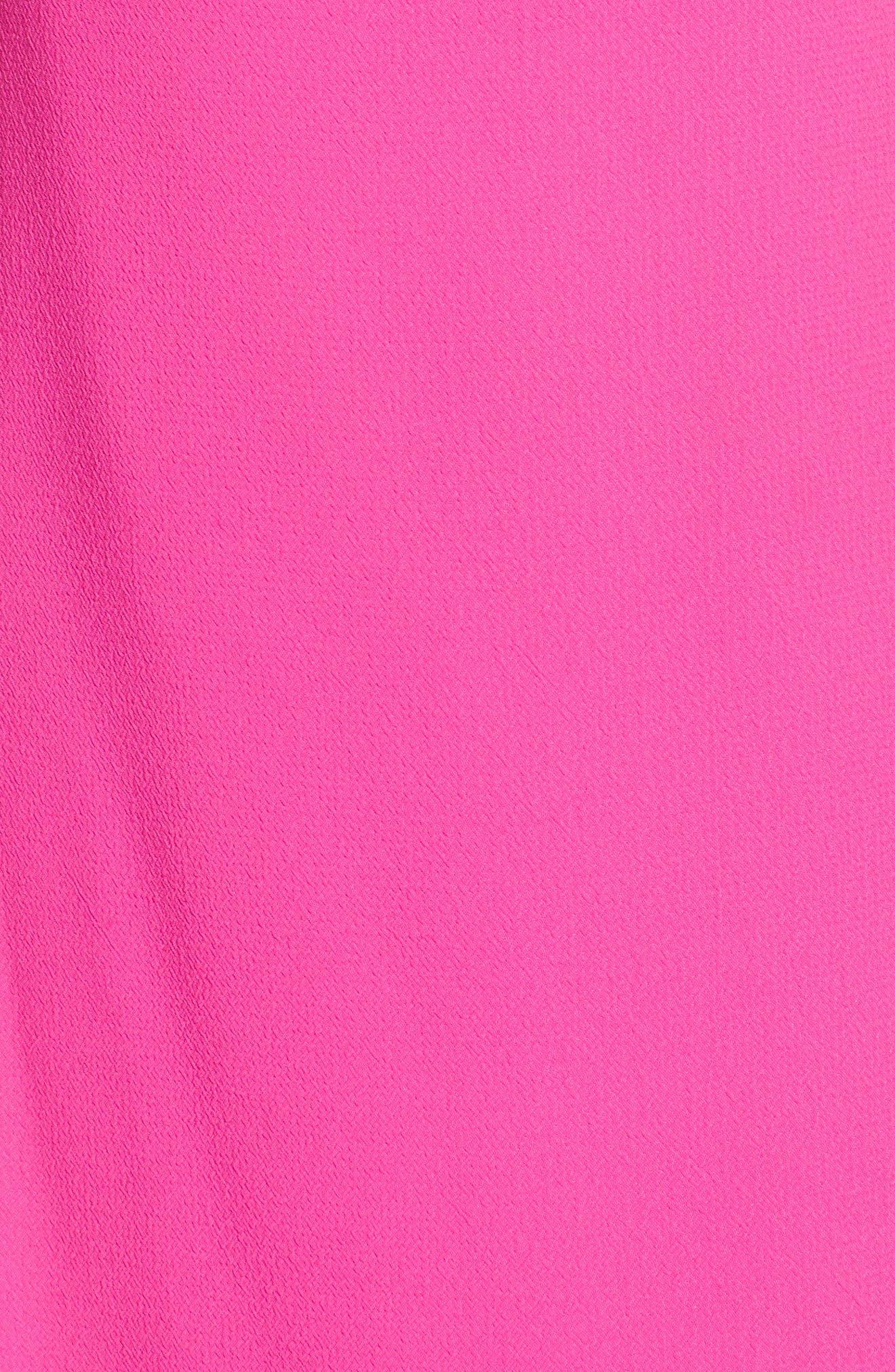 Ruffle Sleeve Shift Dress,                             Alternate thumbnail 6, color,                             Pink