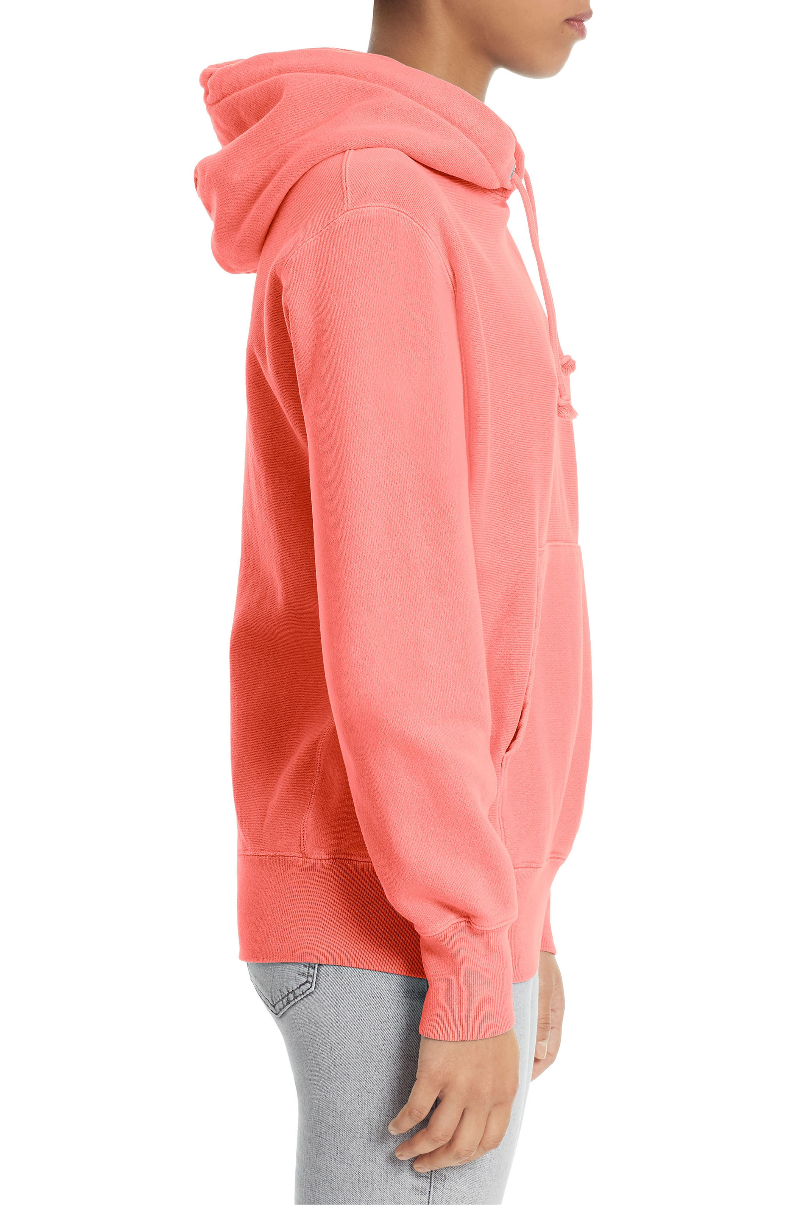 Reverse Weave<sup>®</sup> Pullover Hoodie,                             Alternate thumbnail 3, color,                             Sizzling Orange