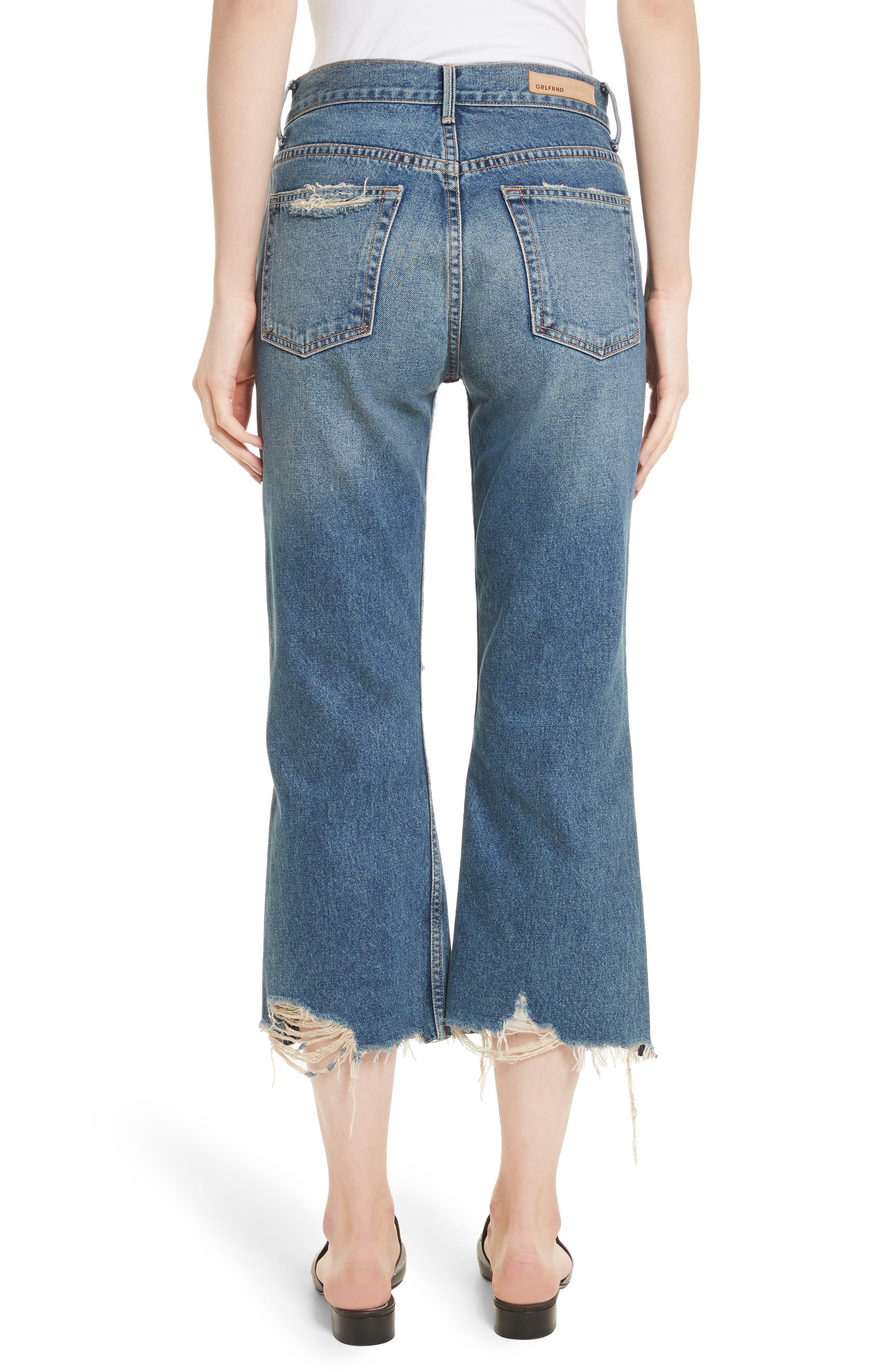 Linda Ripped Rigid High Waist Pop Crop Jeans,                             Alternate thumbnail 2, color,                             Zodiac