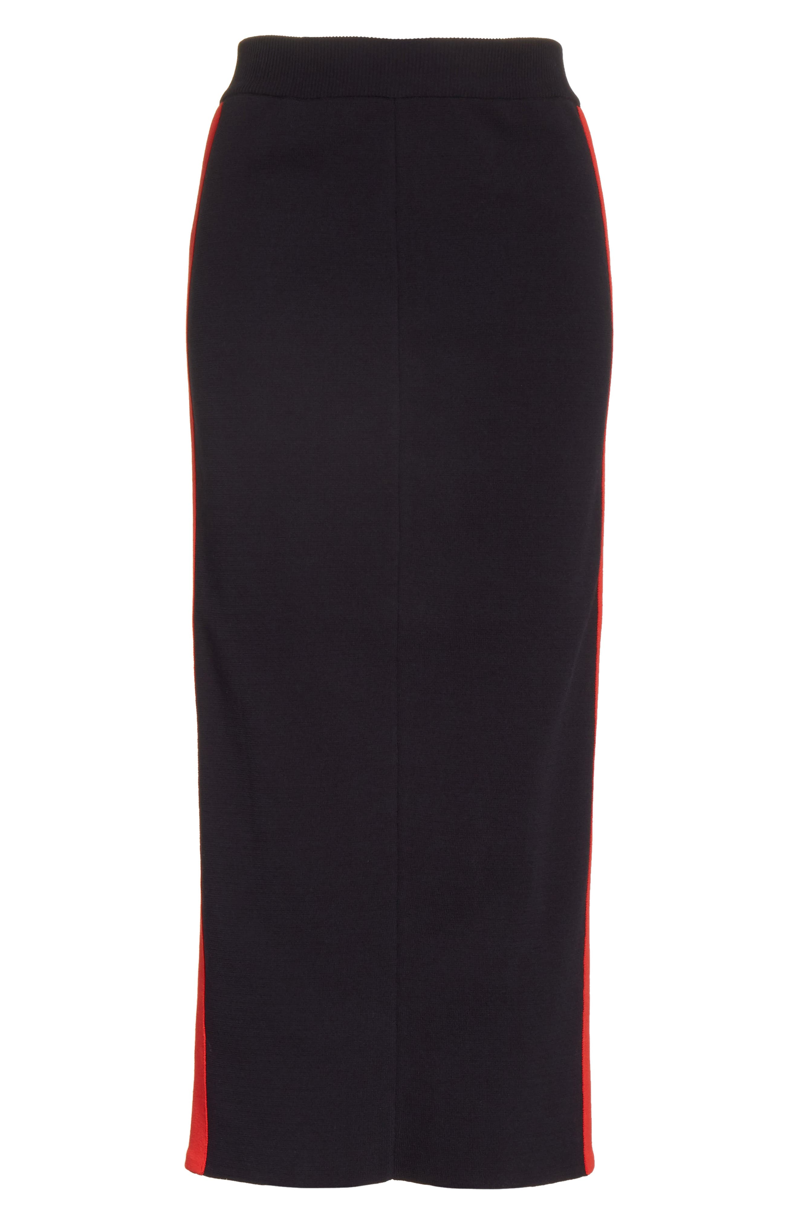 Stripe Cotton Skirt,                             Alternate thumbnail 6, color,                             Ink