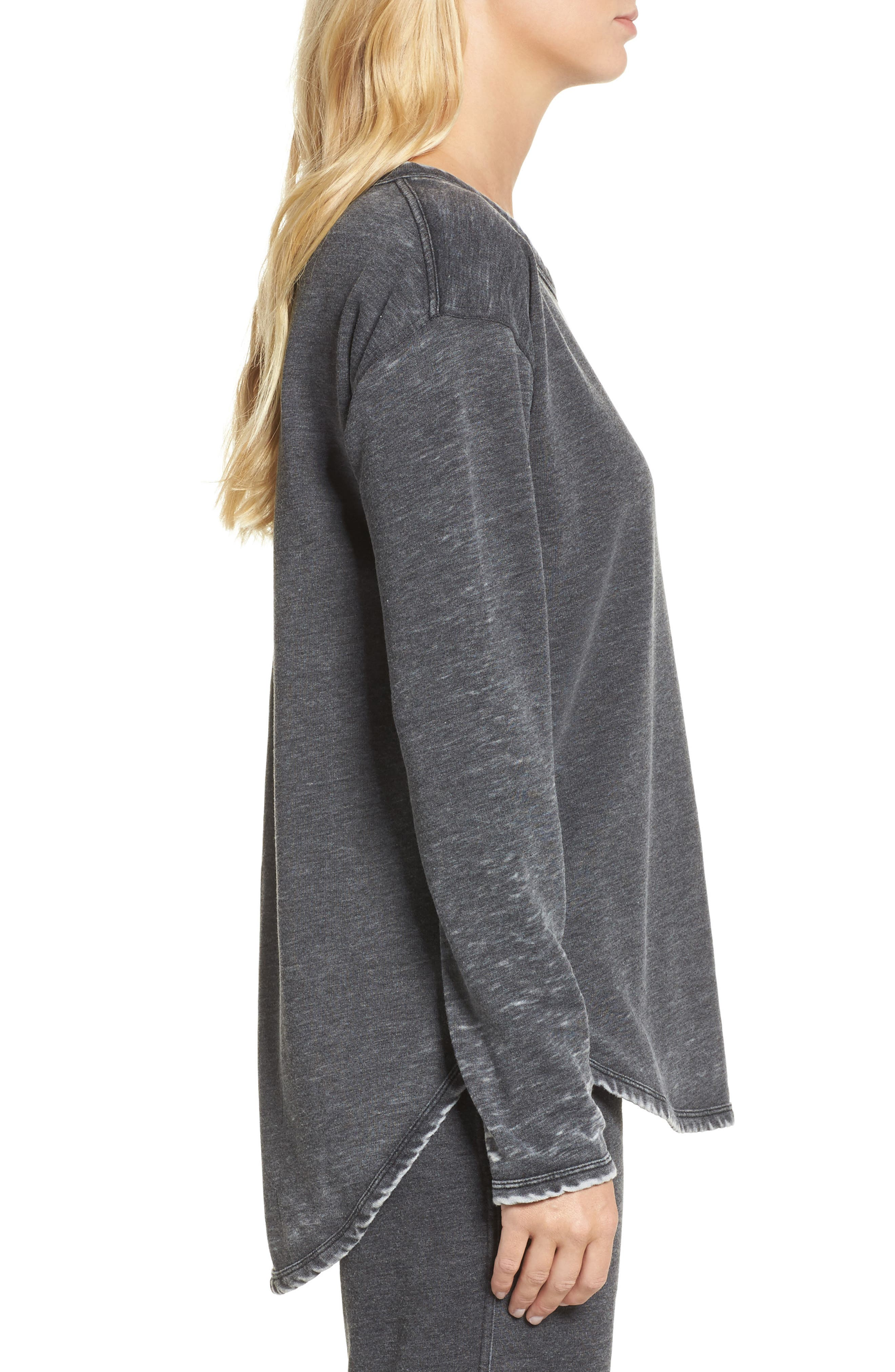 Cora High/Low Top,                             Alternate thumbnail 3, color,                             Charcoal