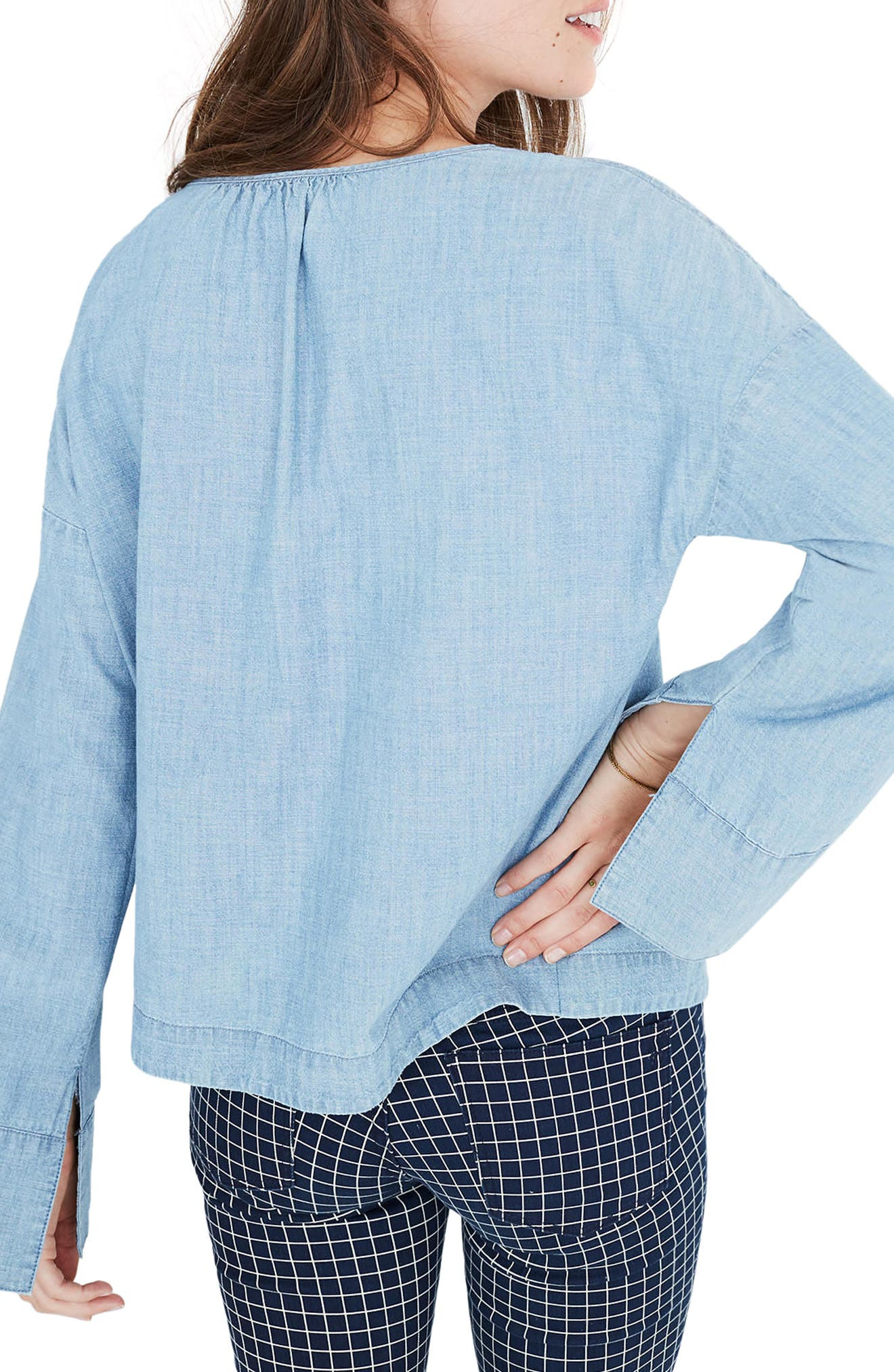 Alternate Image 3  - Madewell Convertible Shoulder Chambray Top