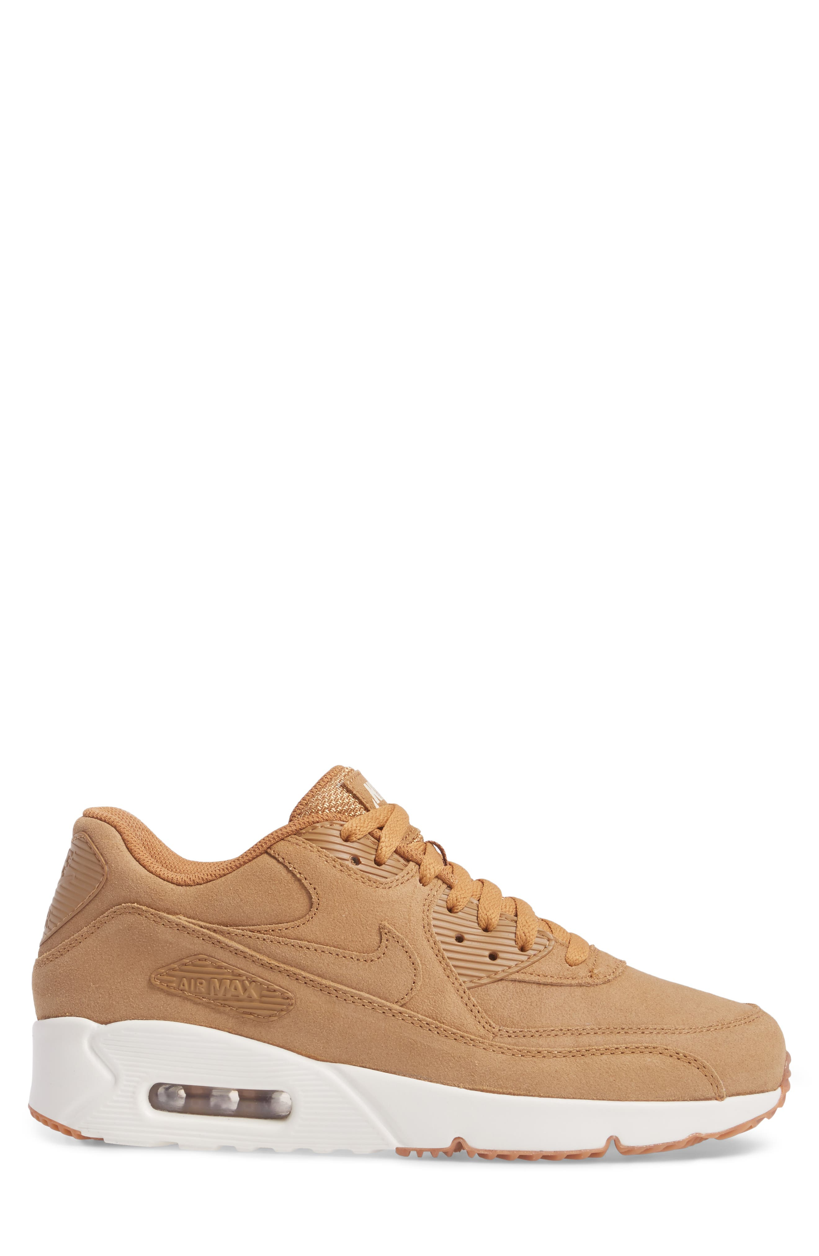 Air Max 90 Ultra 2.0 Sneaker,                             Alternate thumbnail 3, color,                             Flax/Flax/Sail/Gum Med Brown