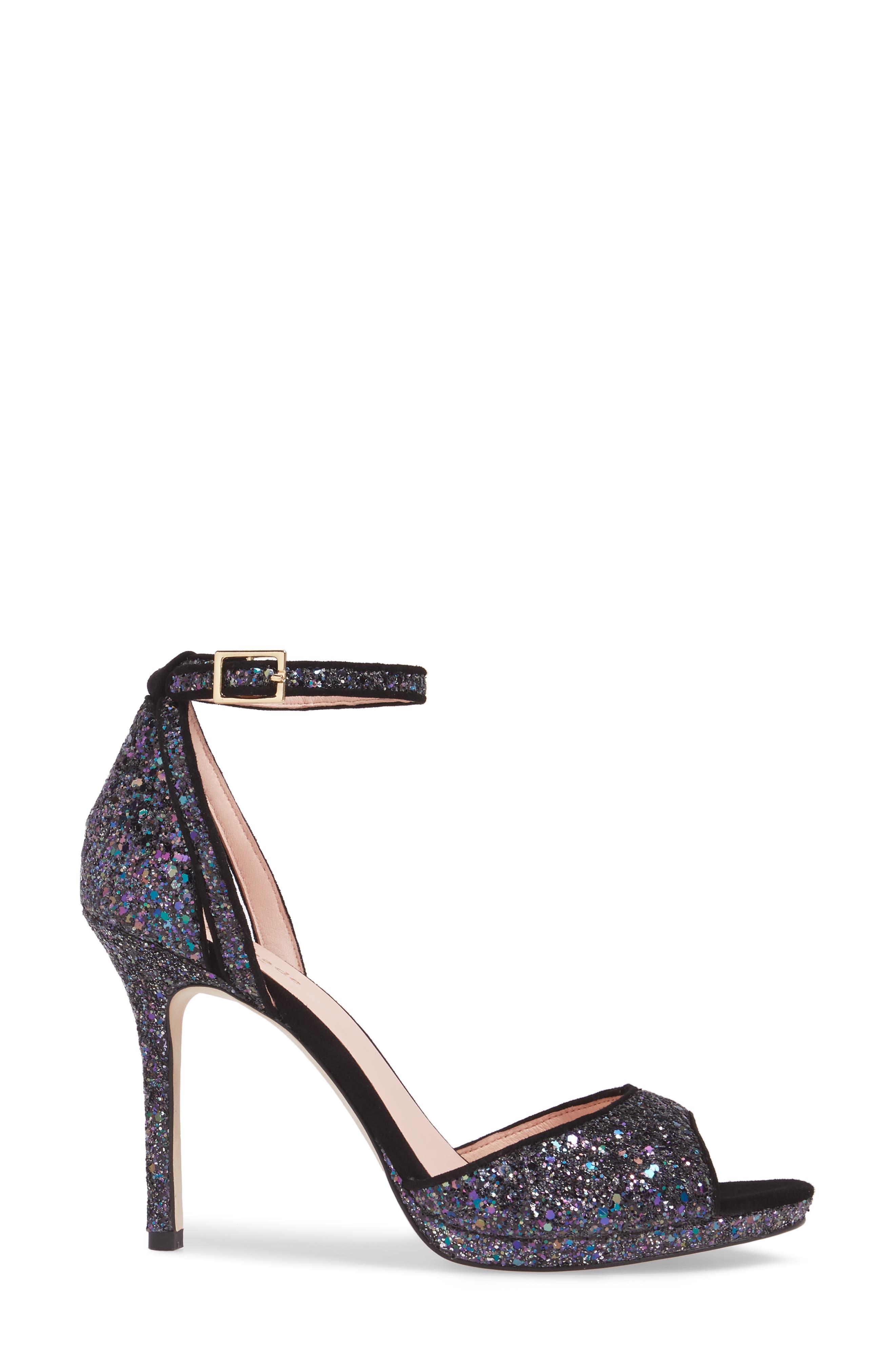 kate spade franklin sandal,                             Alternate thumbnail 3, color,                             Midnight Glitter