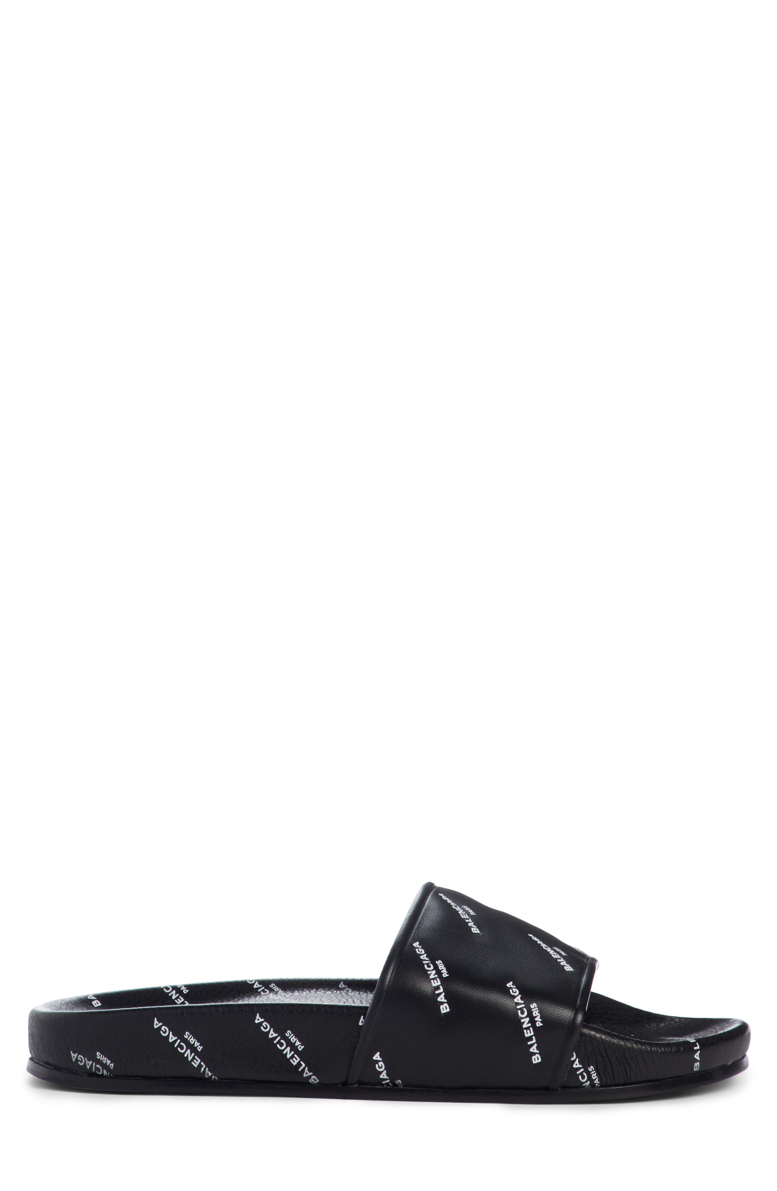 Alternate Image 4  - Balenciaga Logo Print Slide Sandal (Women)