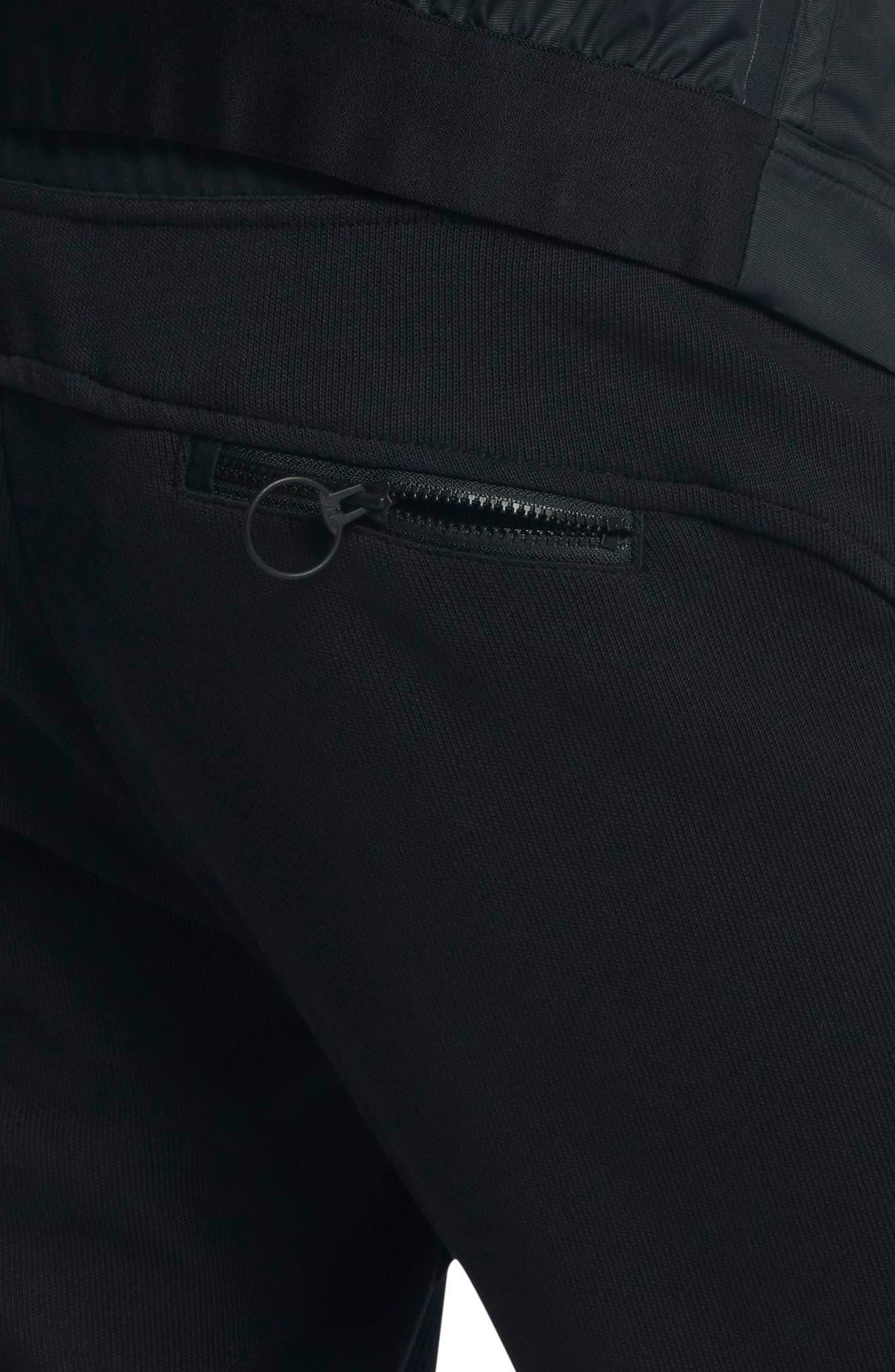 Women's Court Tennis Pants,                             Alternate thumbnail 5, color,                             Black/ Hot Punch/ White