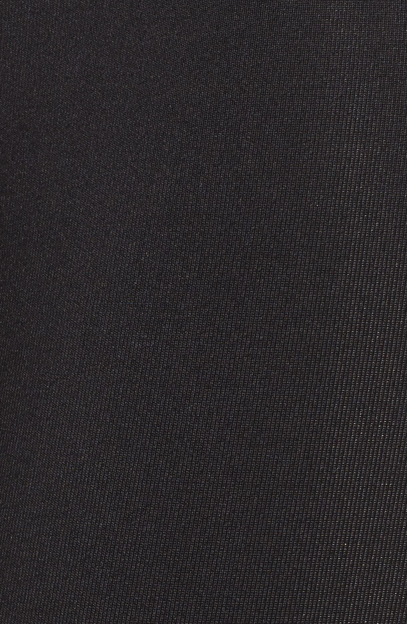 Grand Leggings,                             Alternate thumbnail 6, color,                             Black/ Aurum