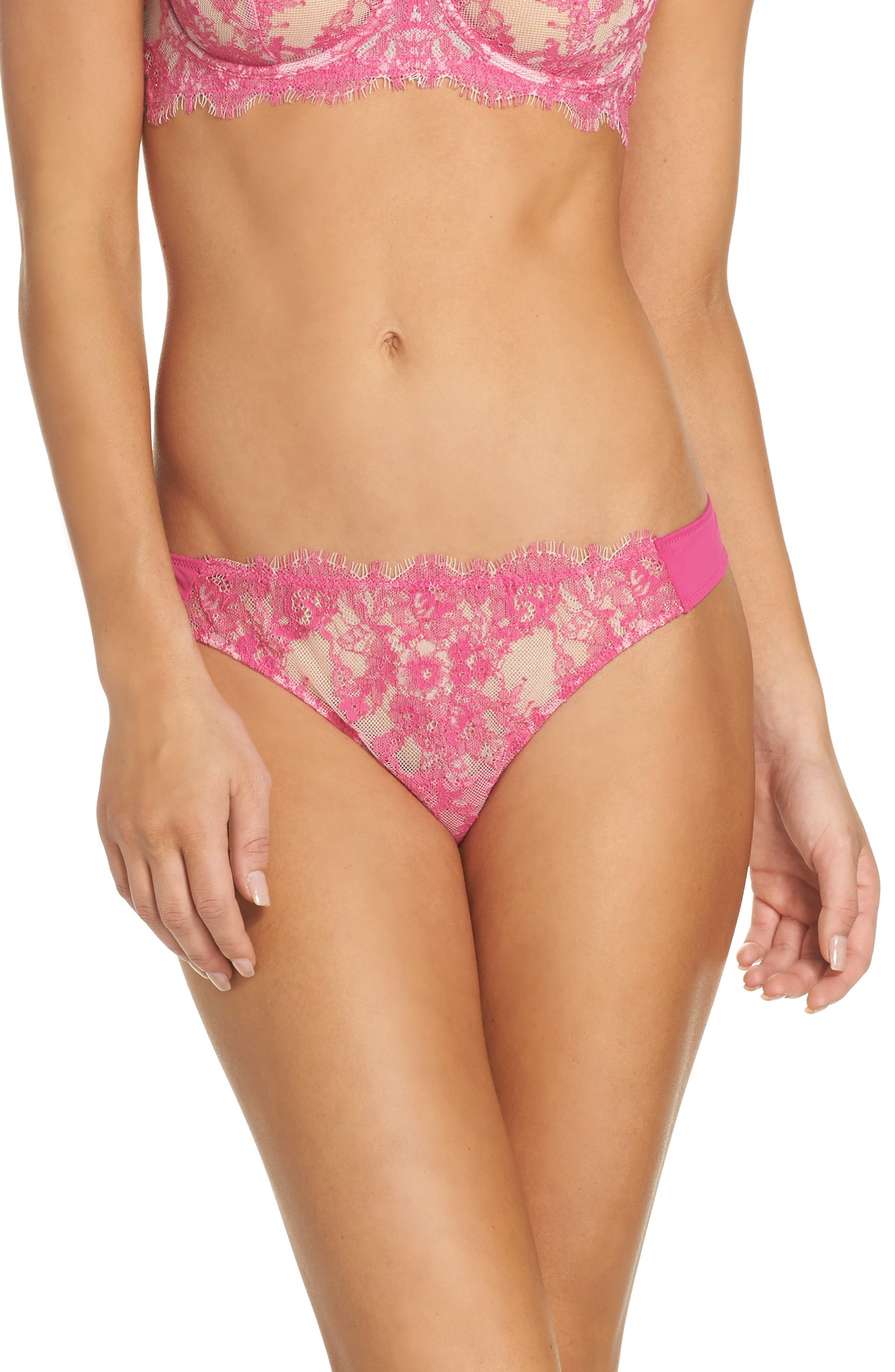 Entice Thong,                         Main,                         color, Rendezvous / Charmeuse