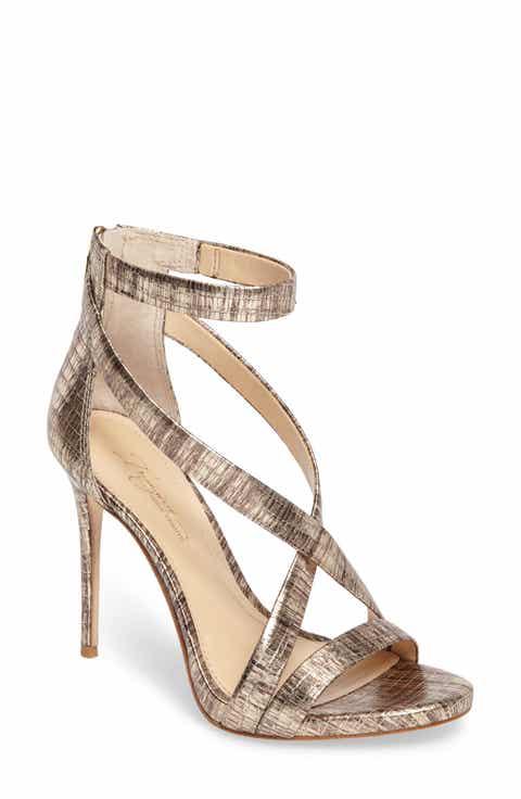 gold high heel sandals | Nordstrom