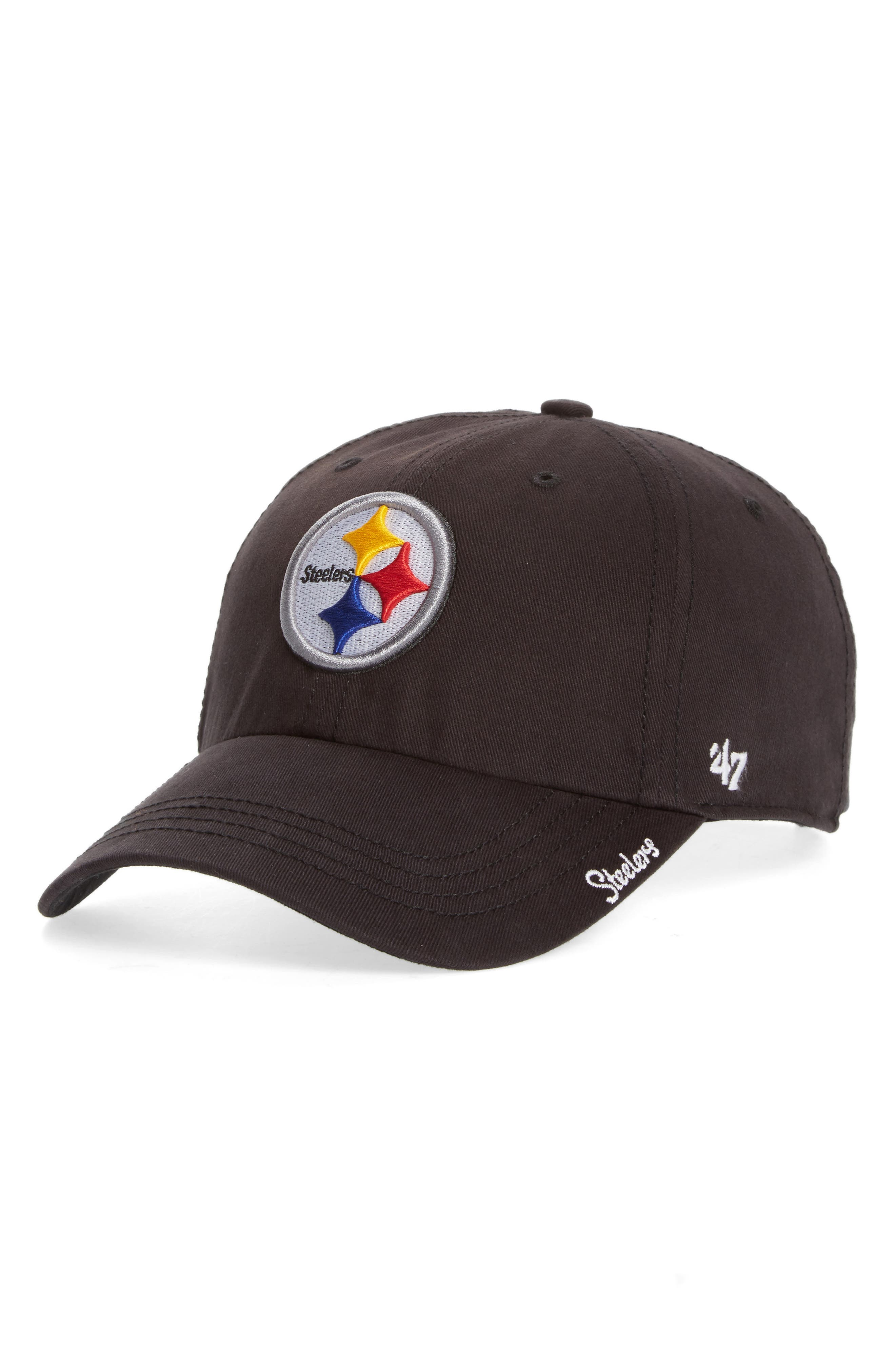Pittsburgh Steelers Cap,                             Main thumbnail 1, color,                             Black