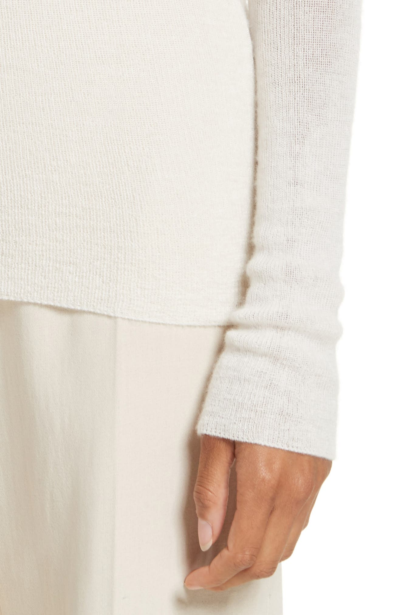 Cabaret Cashmere Sweater,                             Alternate thumbnail 4, color,                             Silk