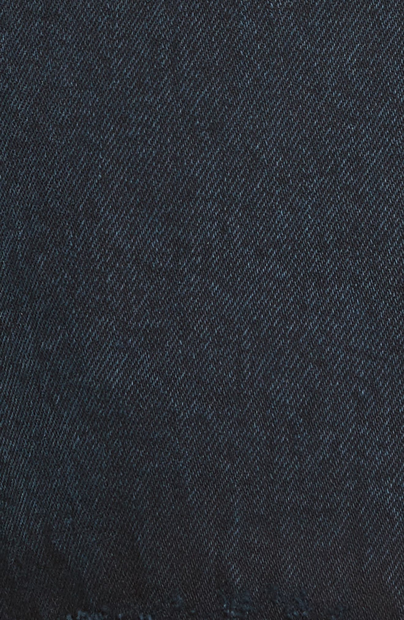 PSWL Folded Denim Skirt,                             Alternate thumbnail 6, color,                             Stone Washed Black