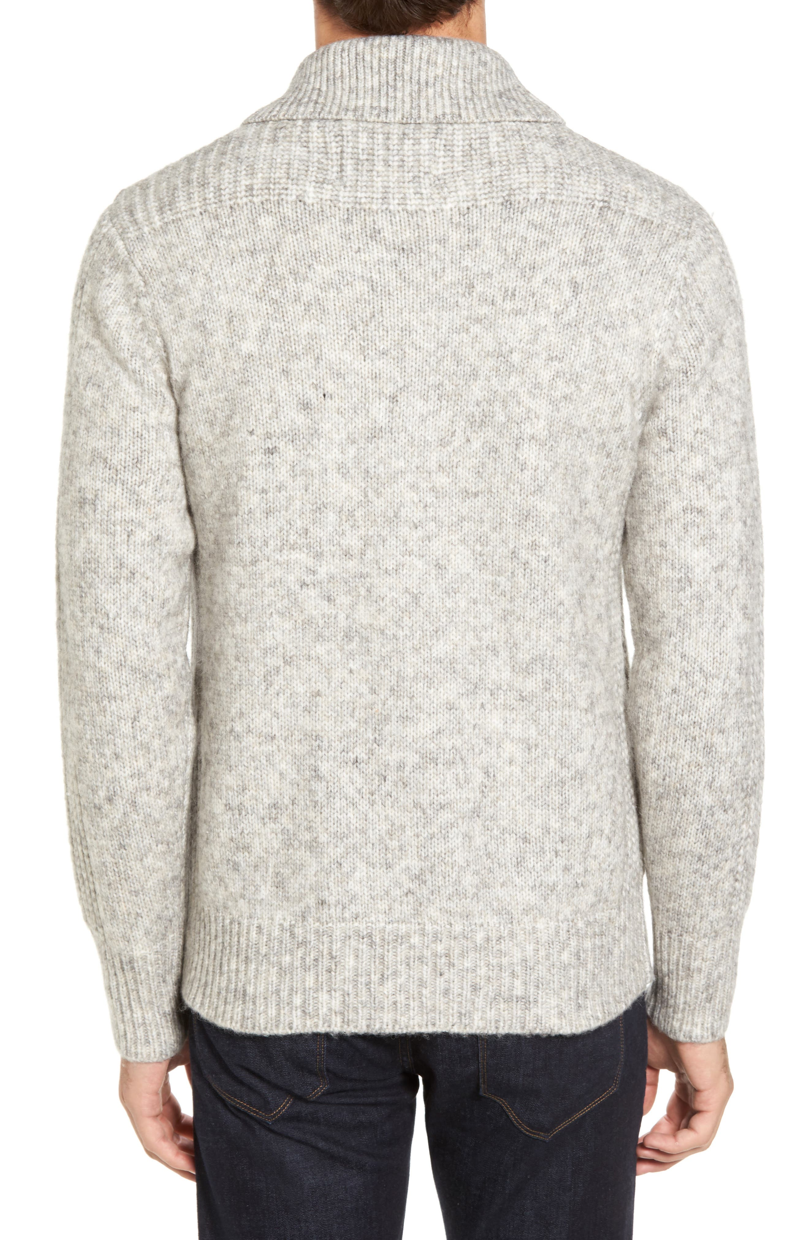 Alternate Image 2  - Schott NYC Toggle Shawl Collar Sweater