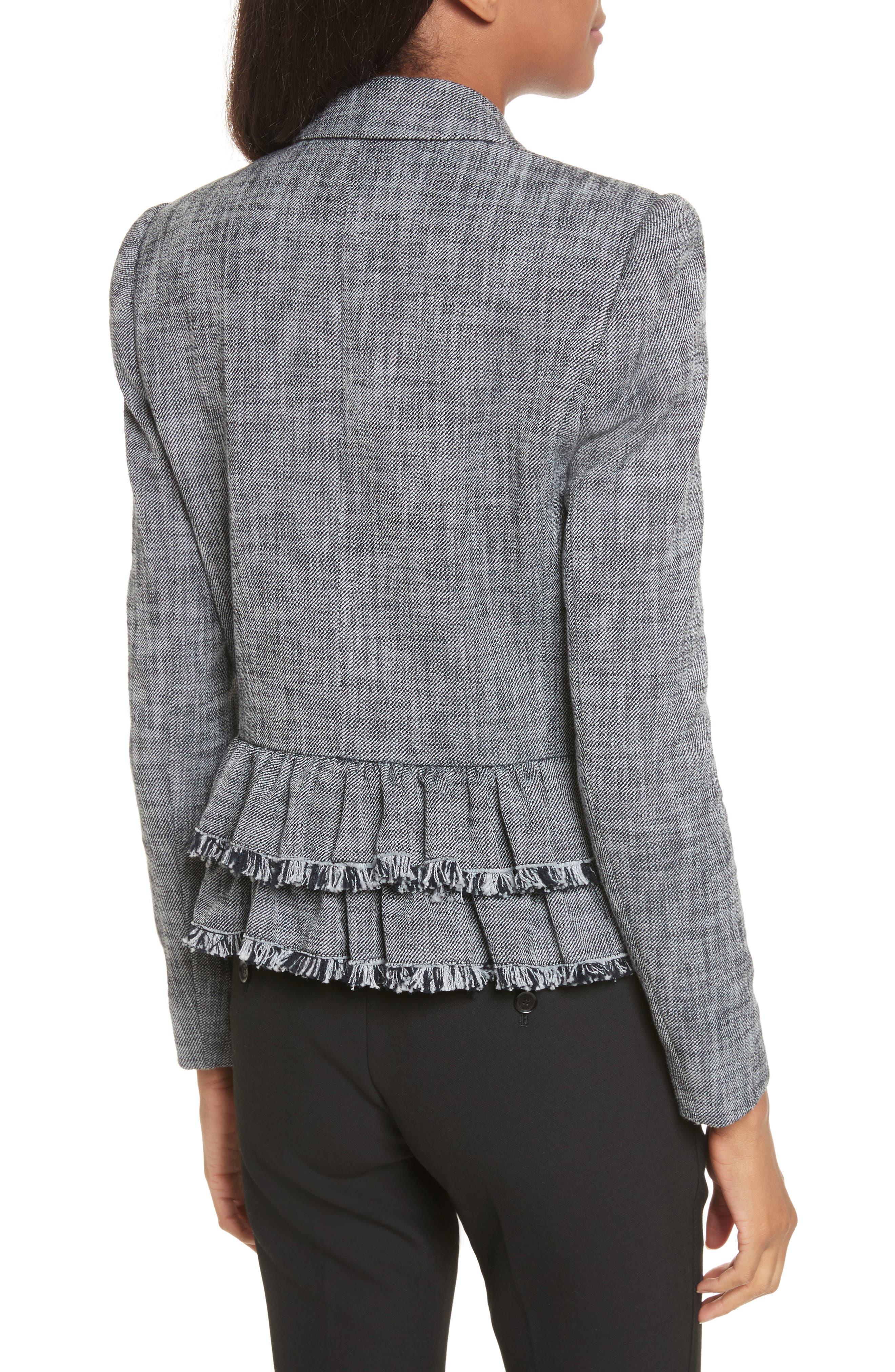 Slub Suiting Jacket,                             Alternate thumbnail 2, color,                             Grey/ Black Combo