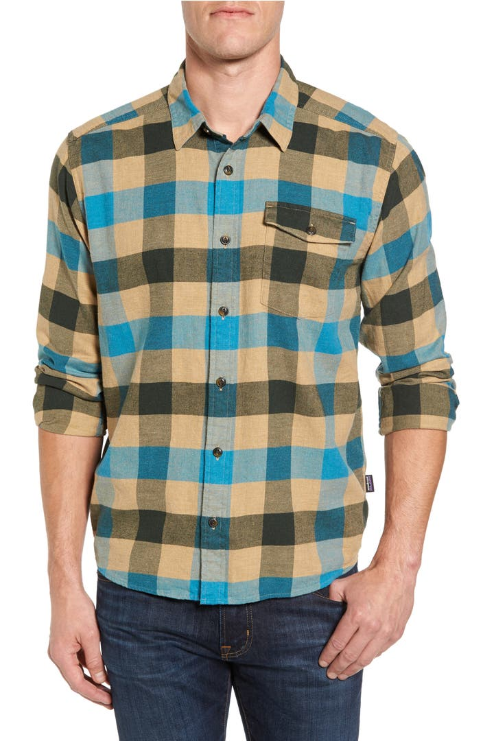 patagonia regular fit organic cotton flannel shirt nordstrom