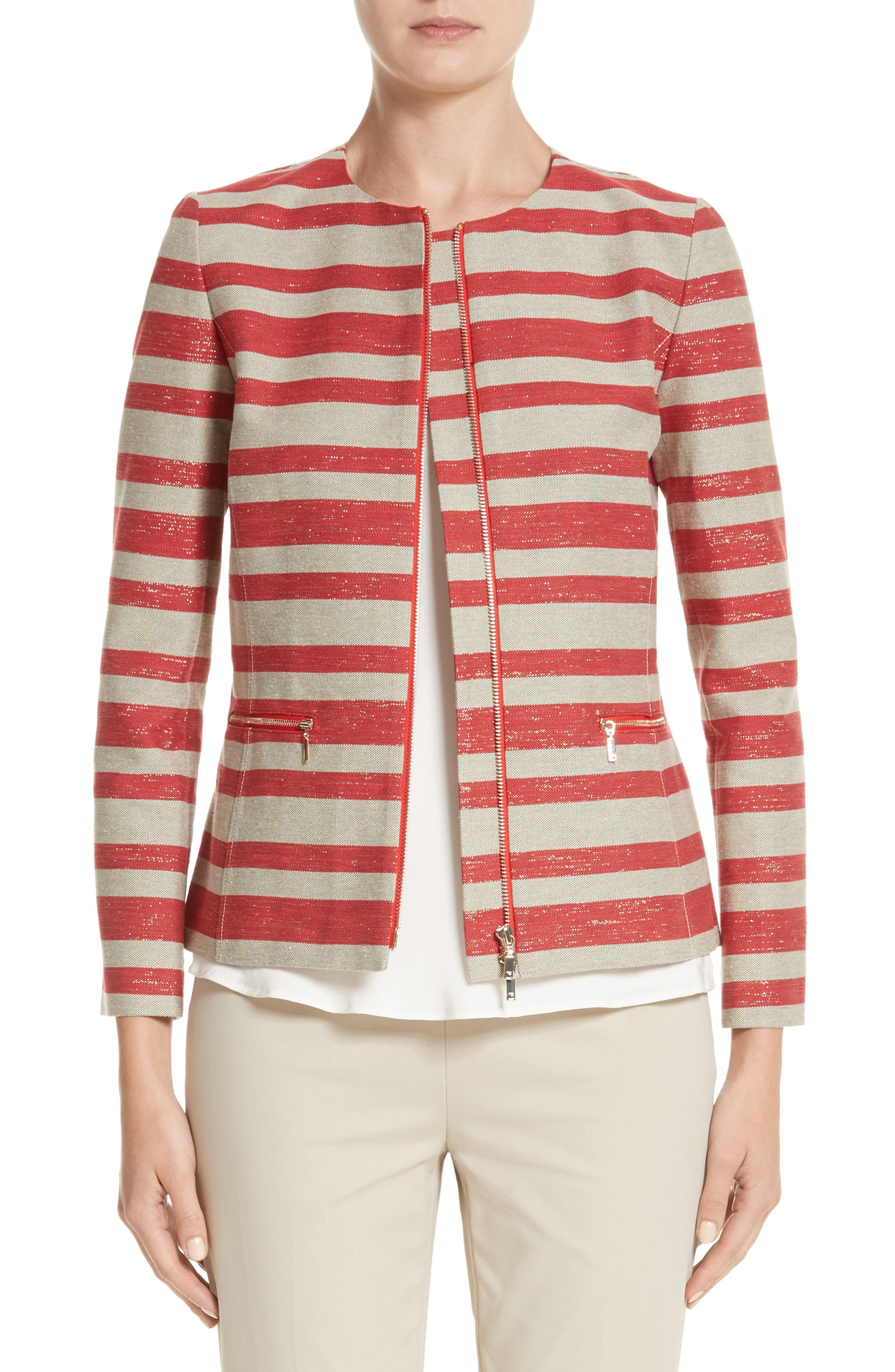 Lafayette 148 New York Kerrington Stripe Jacket