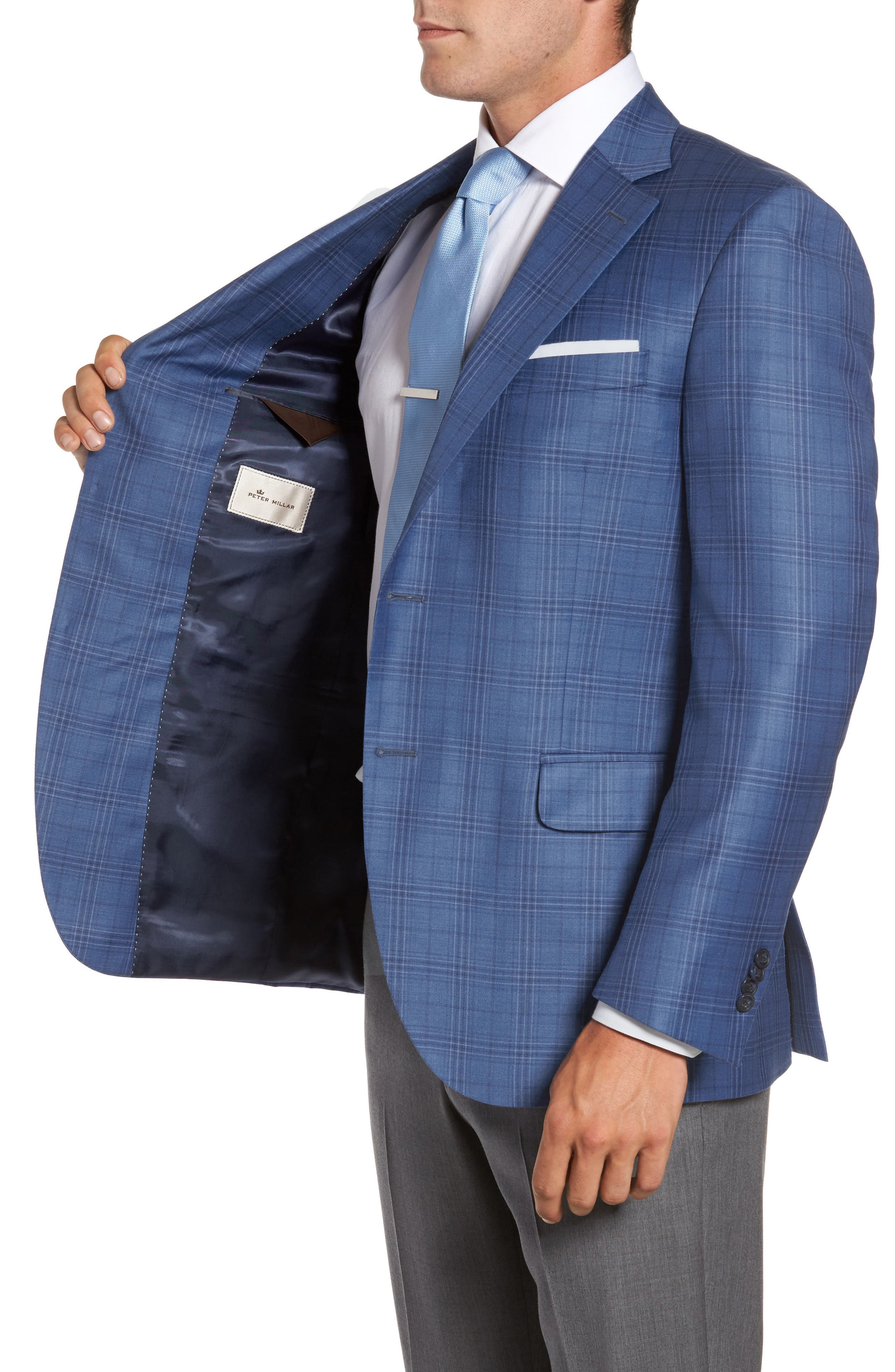 Alternate Image 3  - Peter Millar Flynn Classic Fit Plaid Wool Sport Coat
