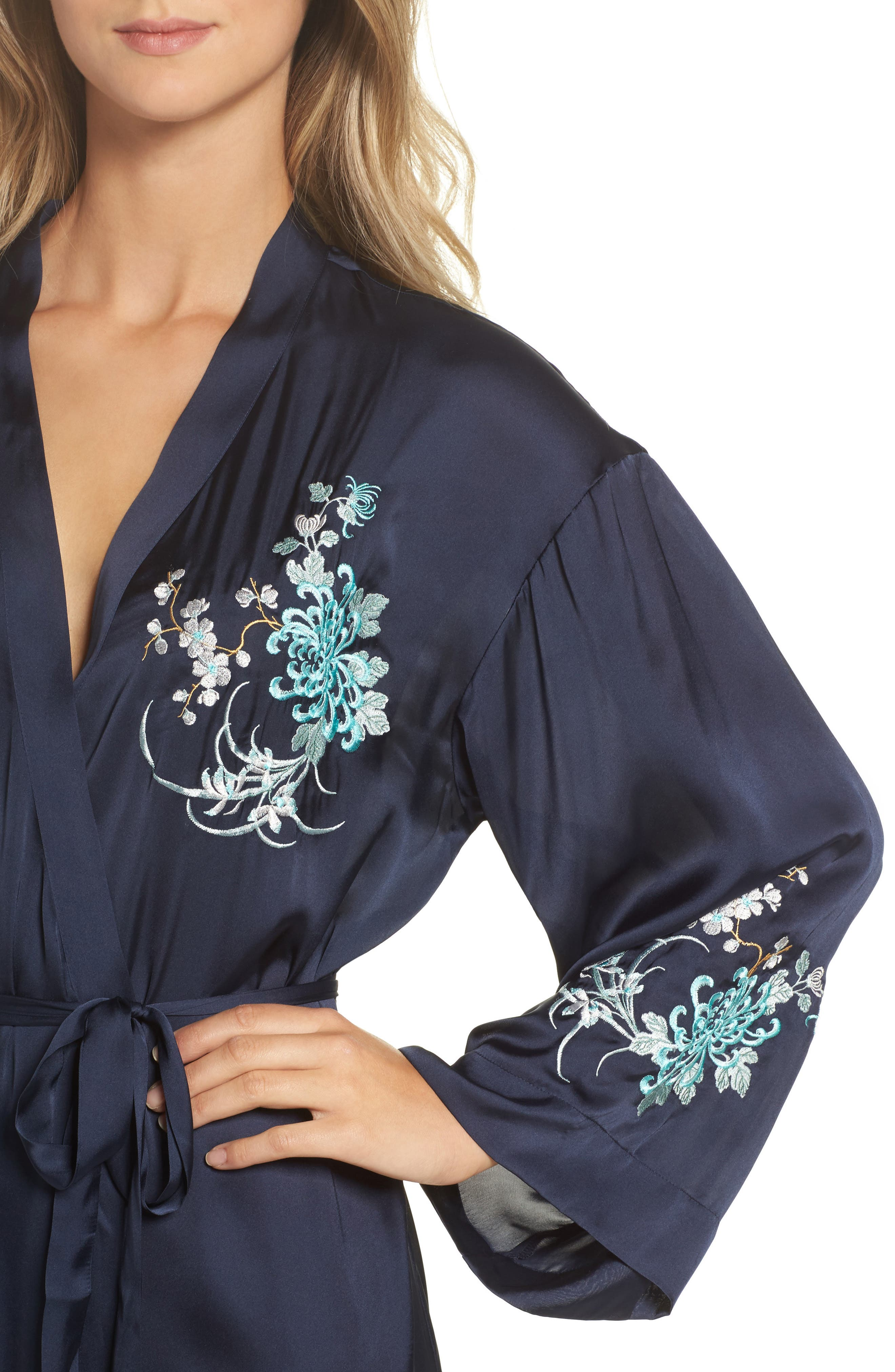 Alternate Image 4  - Chelsea28 Embroidered Long Robe