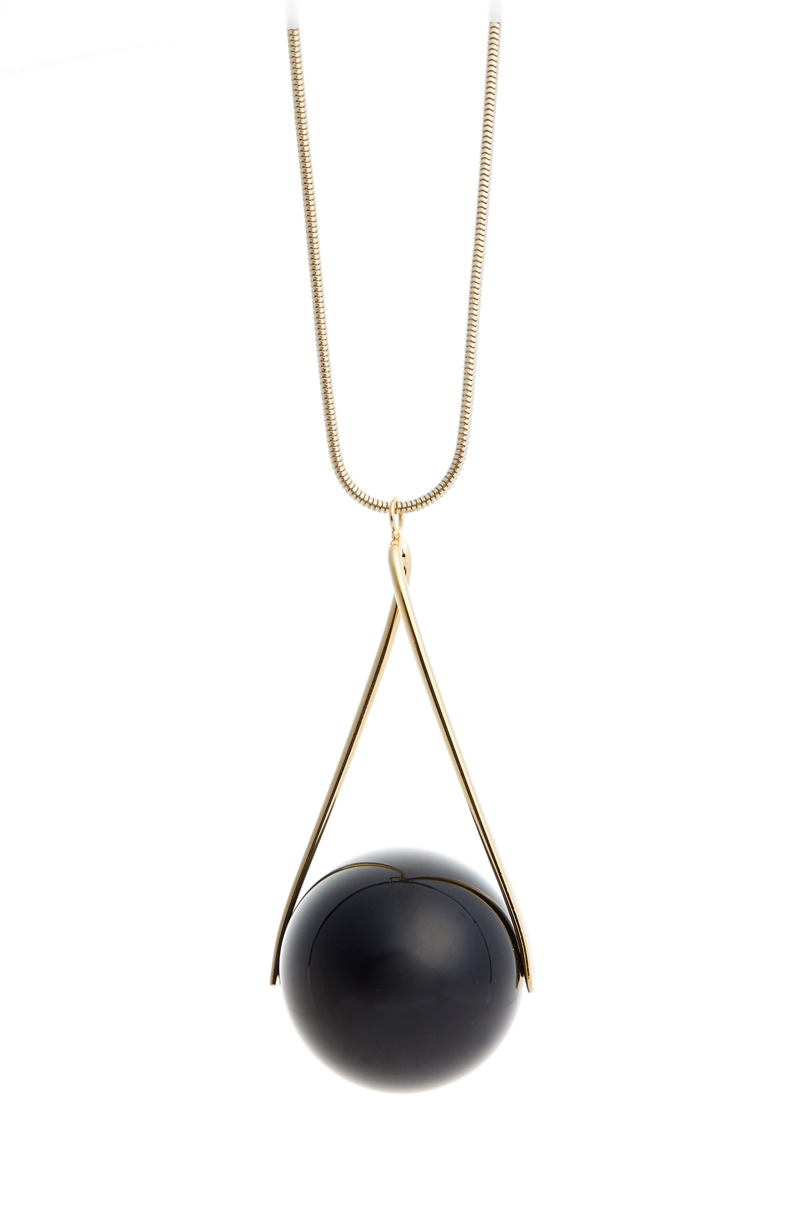 Lafayette 148 New York Single Orb Necklace