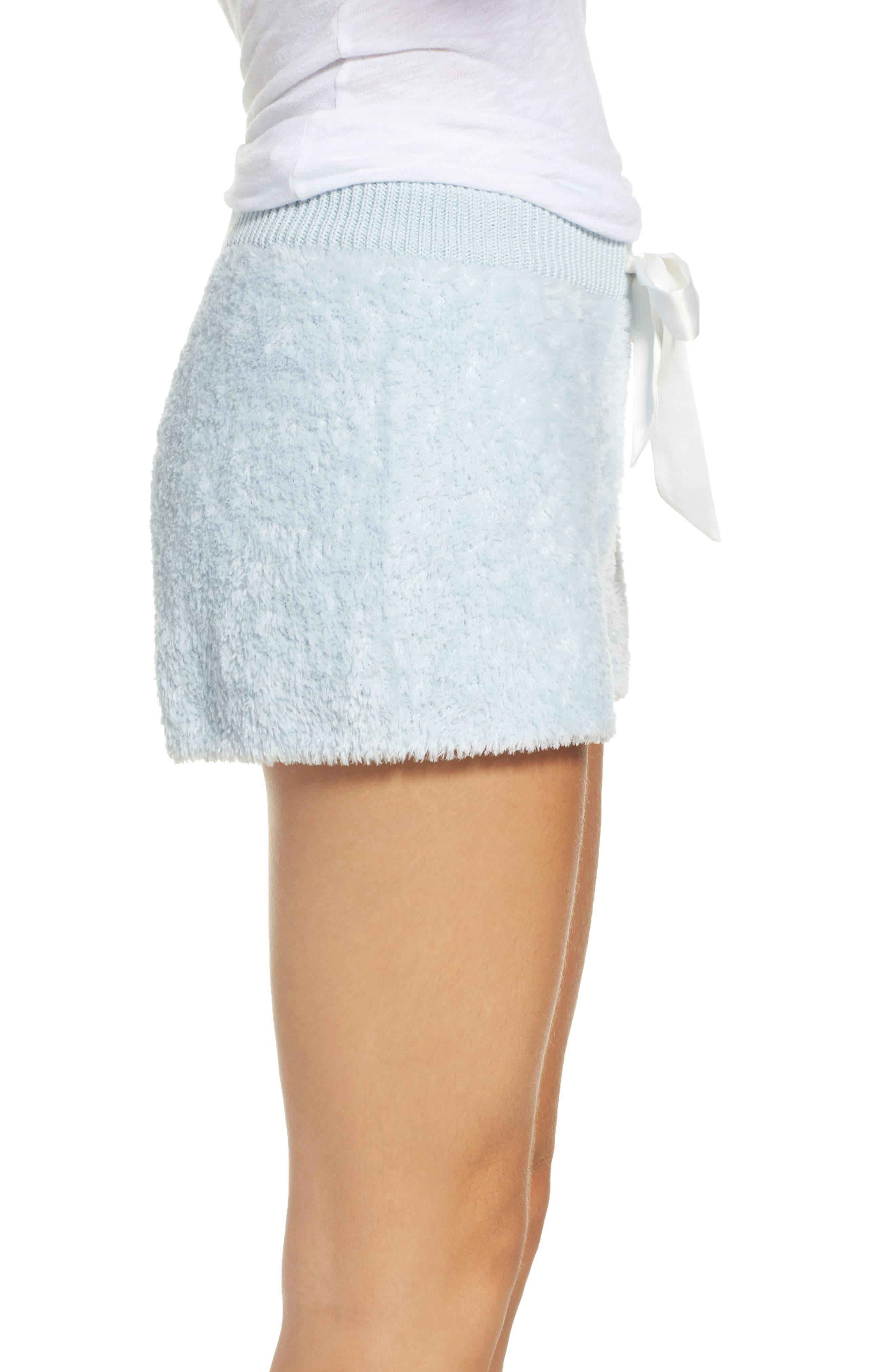 Fuzzy Lounge Shorts,                             Alternate thumbnail 3, color,                             Blue Drift