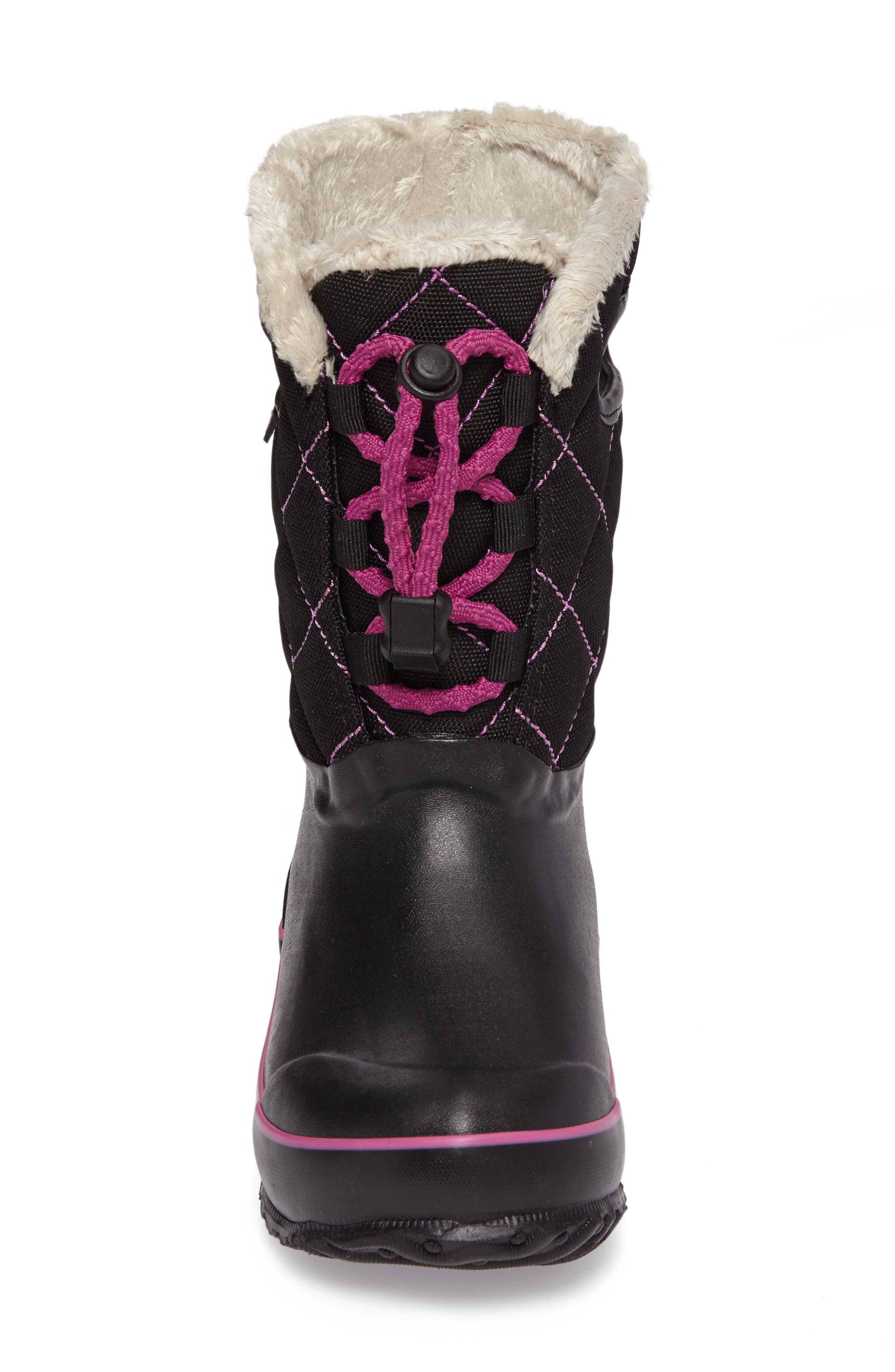 Juno Faux Fur Insulated Waterproof Boot,                             Alternate thumbnail 4, color,                             Black Multi
