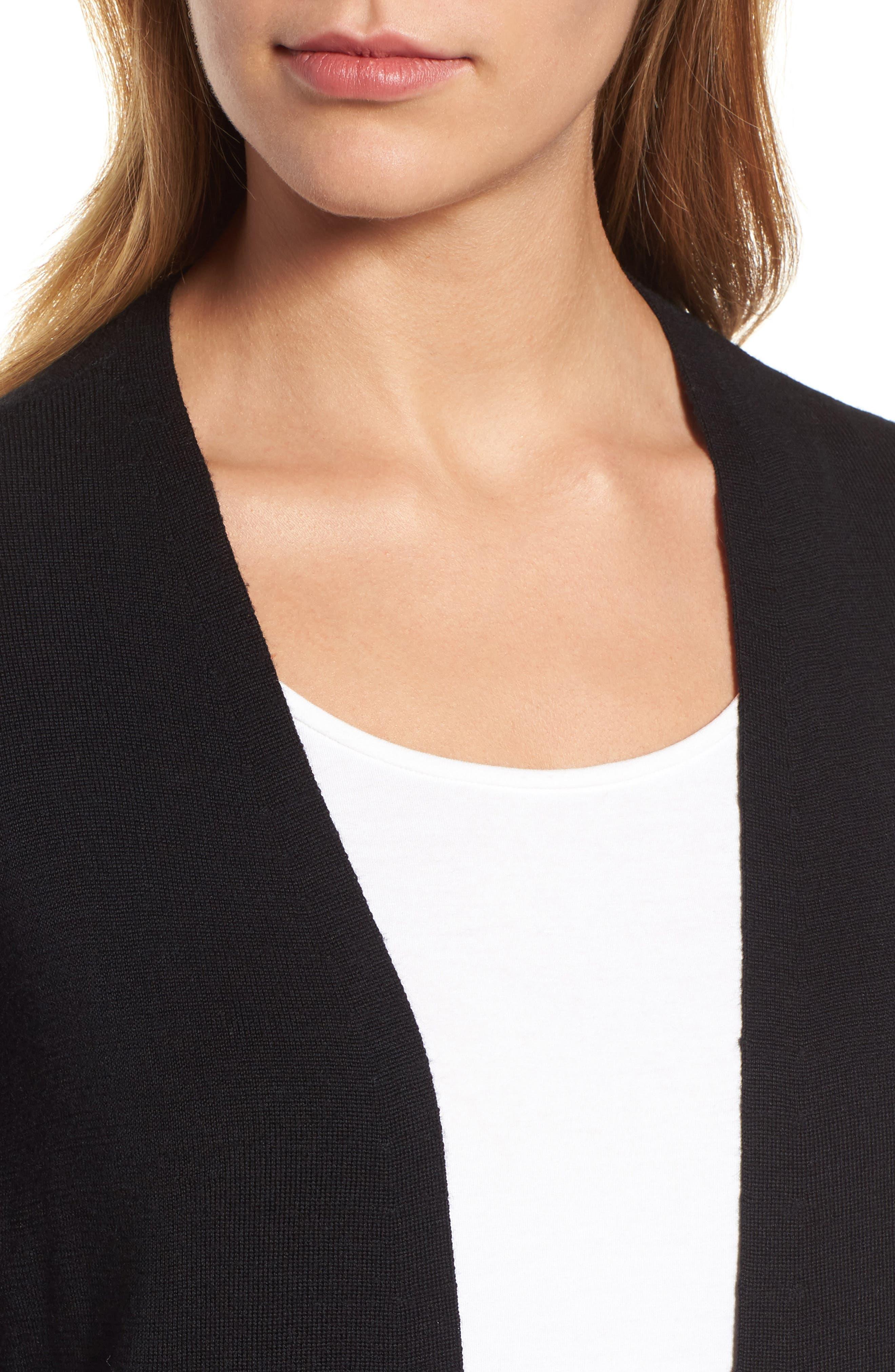 Alternate Image 4  - Eileen Fisher Long Merino Wool Cardigan (Regular & Petite)