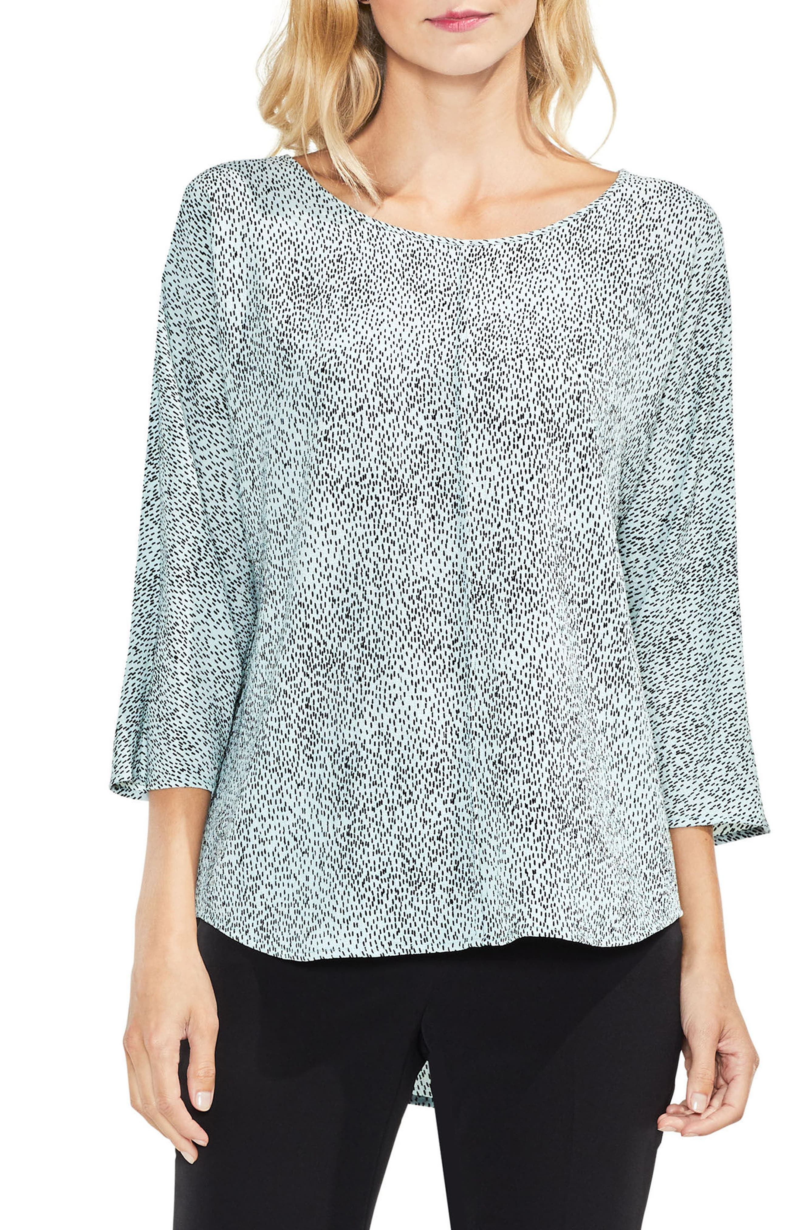 Main Image - Vince Camuto Dotted Elbow Sleeve Top
