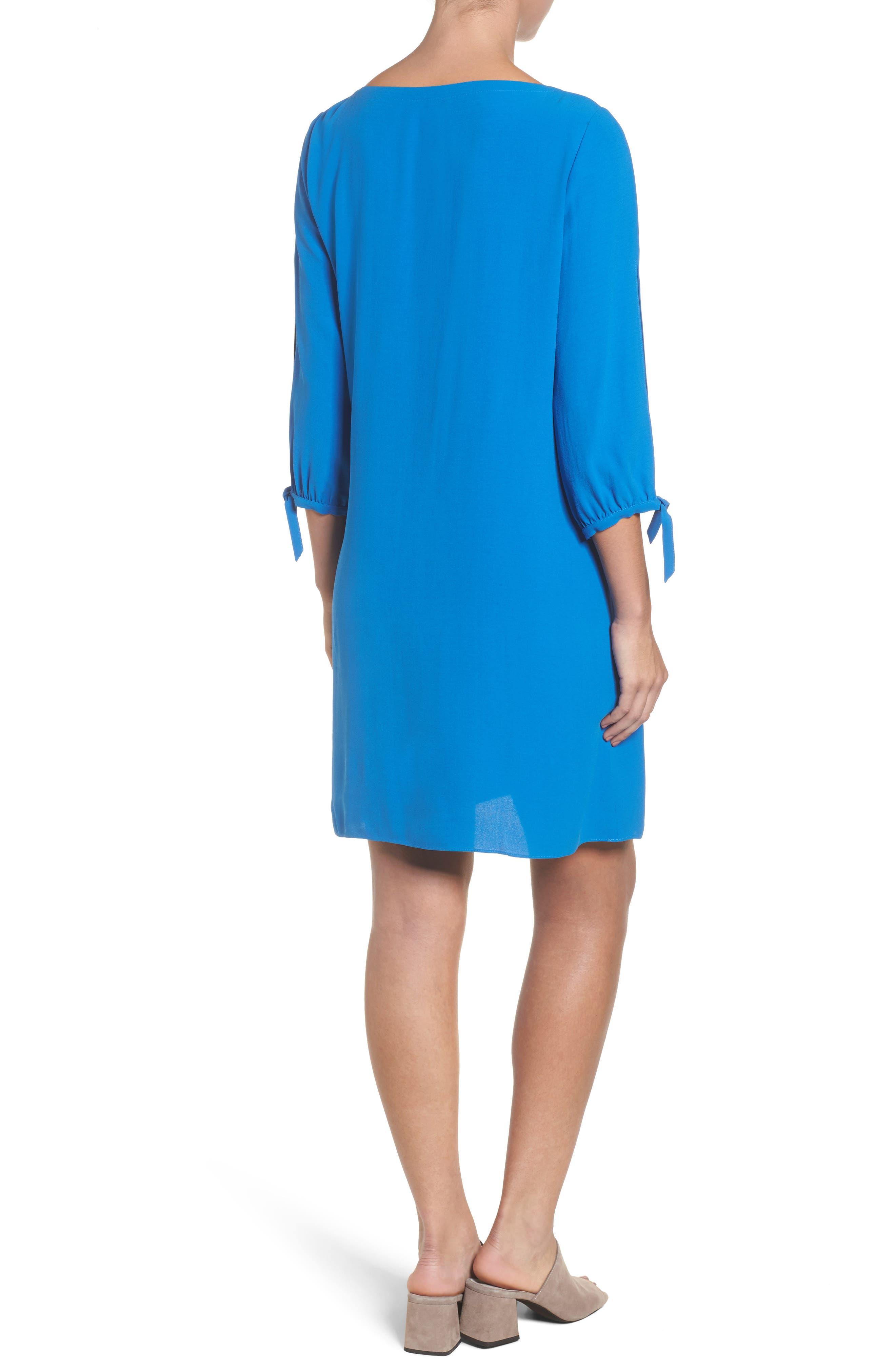 Alternate Image 2  - Eileen Fisher Silk Shift Dress (Regular & Petite)