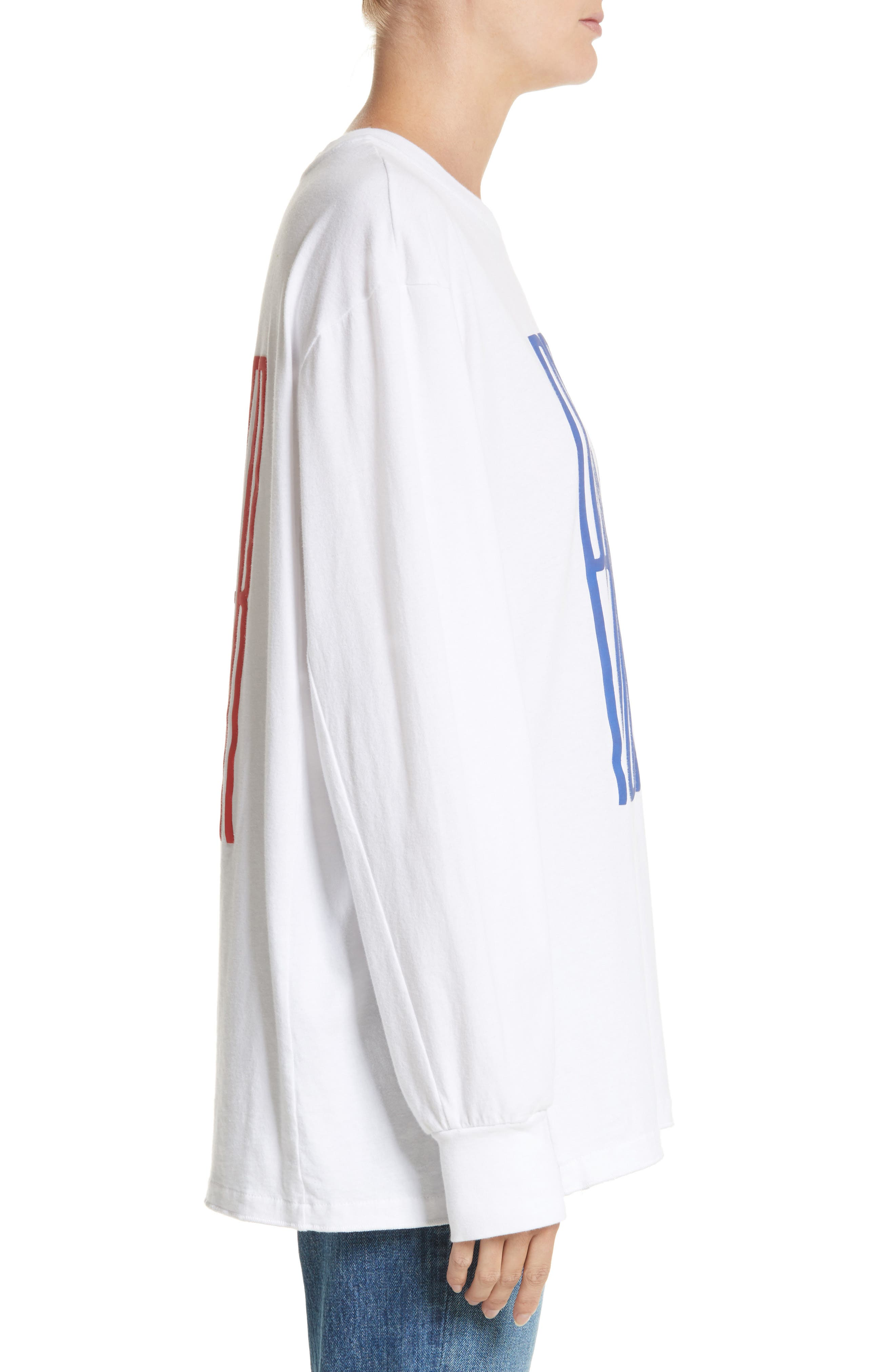 PSWL Graphic Jersey Tee,                             Alternate thumbnail 3, color,                             Blue Proenza Schouler