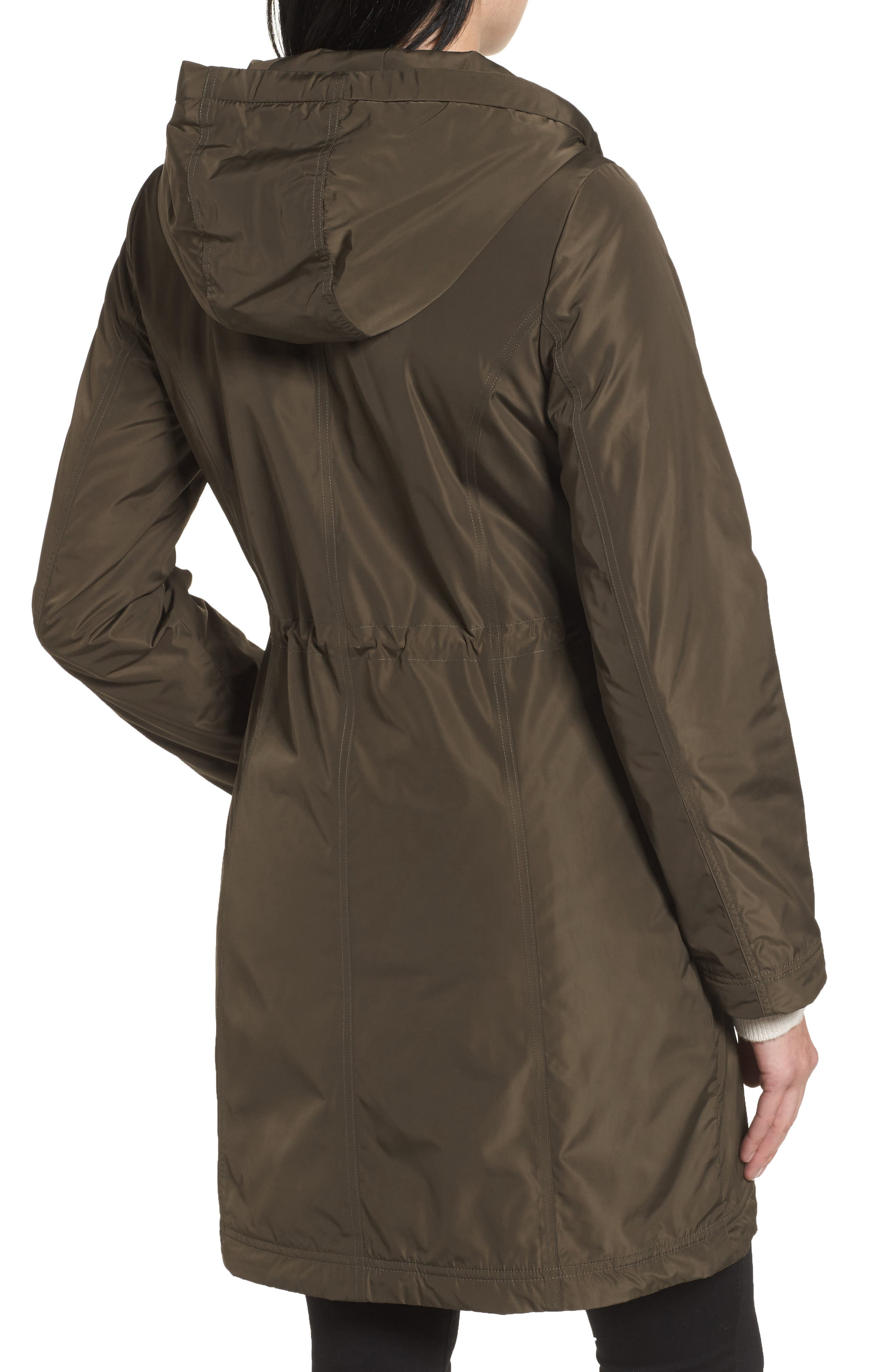 Alternate Image 2  - Tahari Tiffany Raincoat (Regular & Petite)