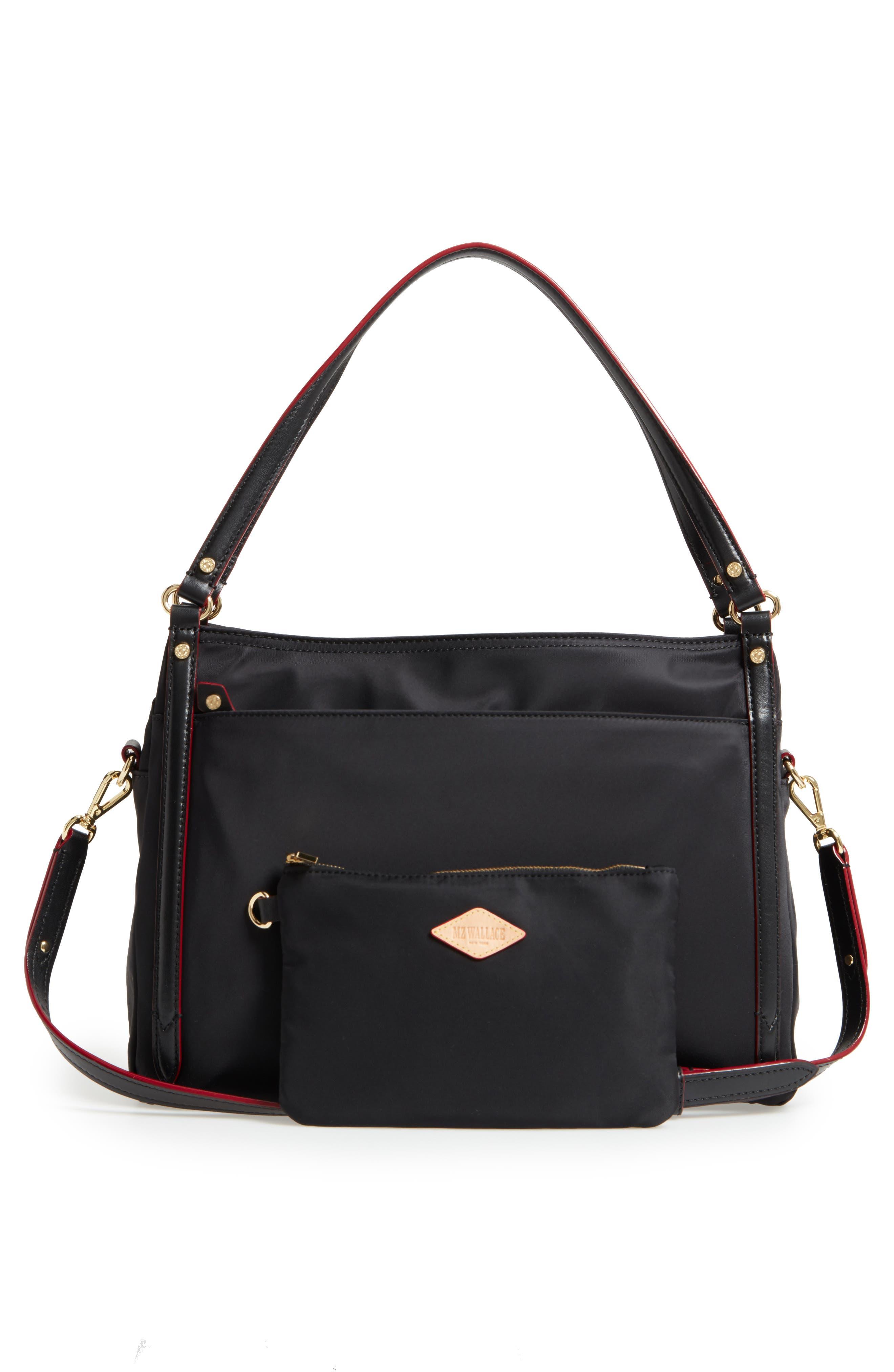 Toni Bedford Nylon Shoulder Bag,                             Main thumbnail 1, color,                             Black