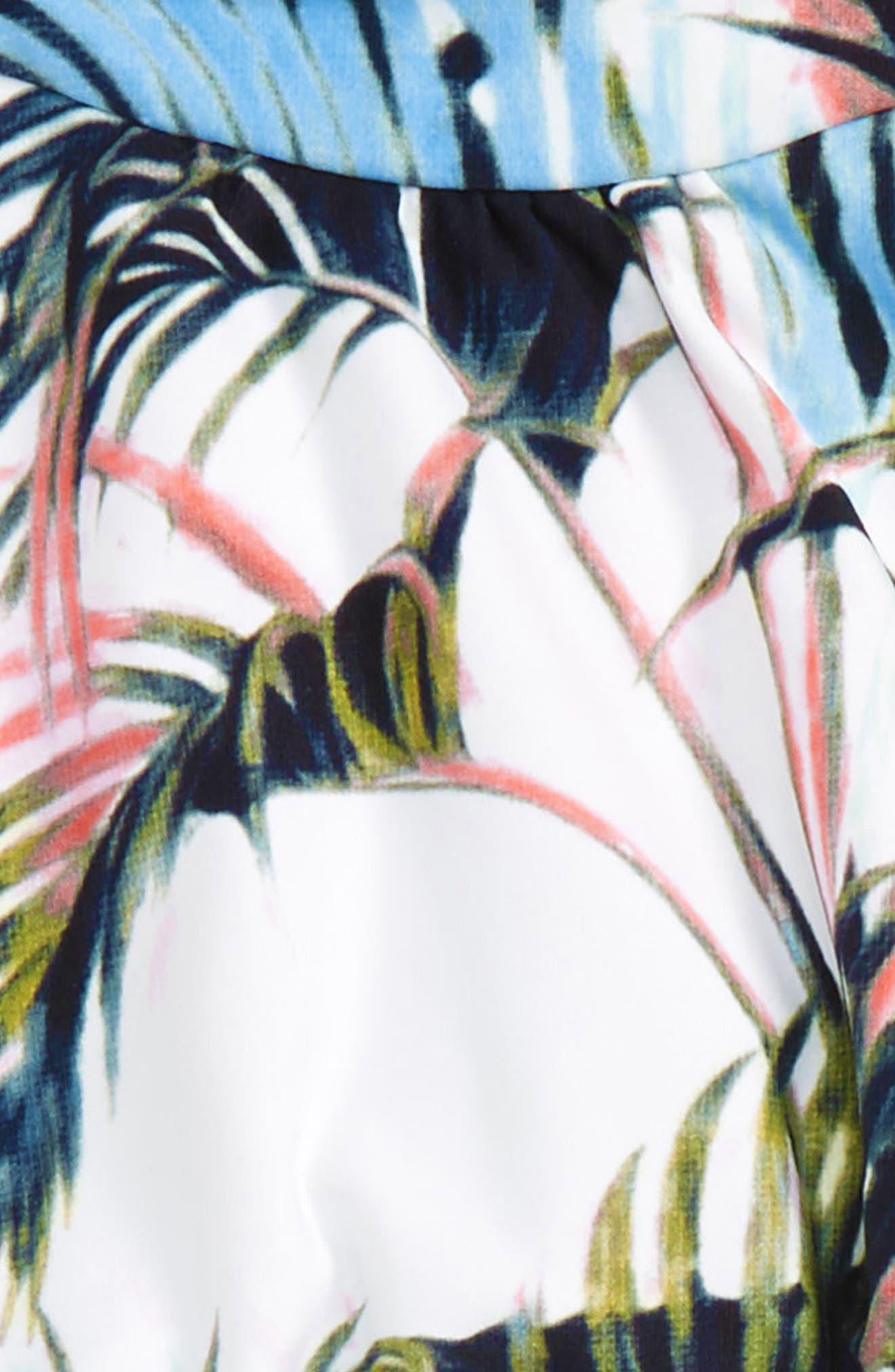 Palm Two-Piece Halter Swimsuit,                             Alternate thumbnail 2, color,                             Multi White