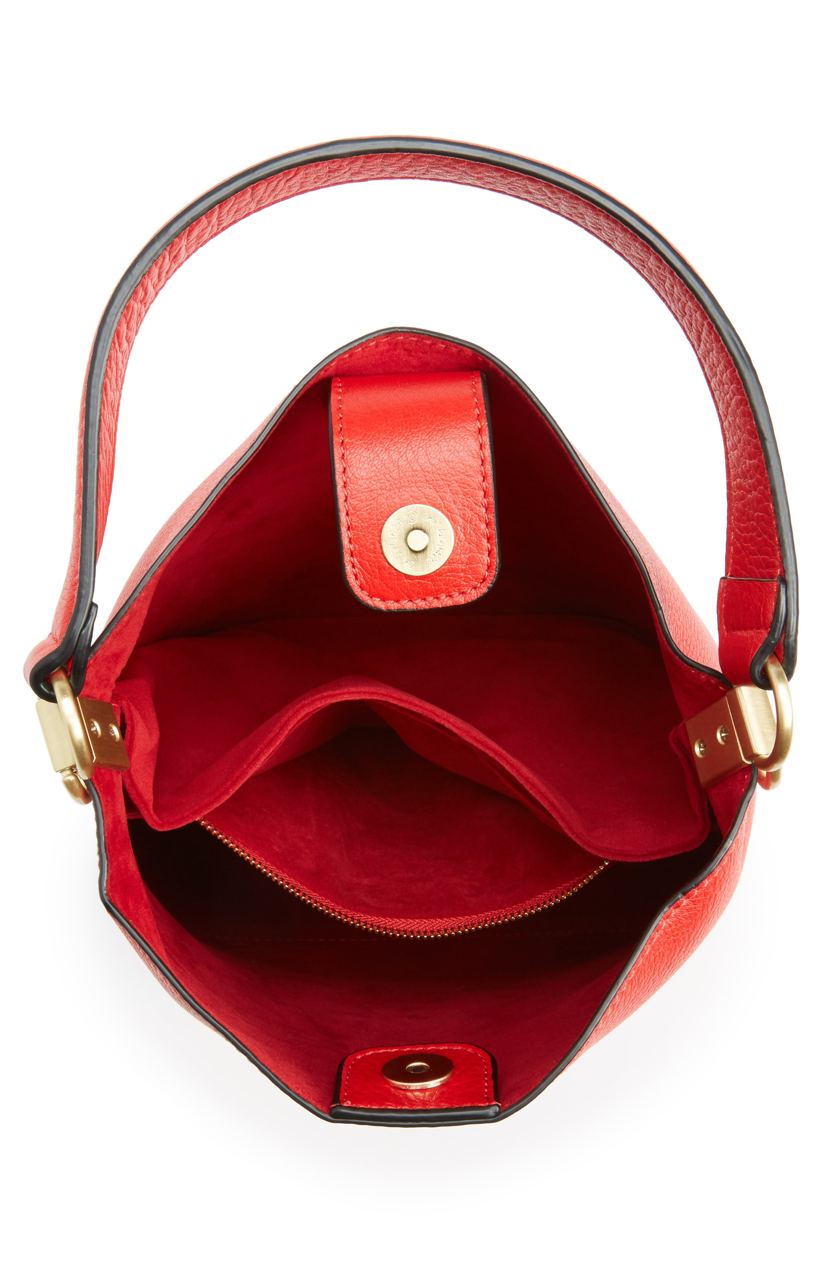Alternate Image 3  - Sam Edelman Small Nya Faux Leather Bucket Bag